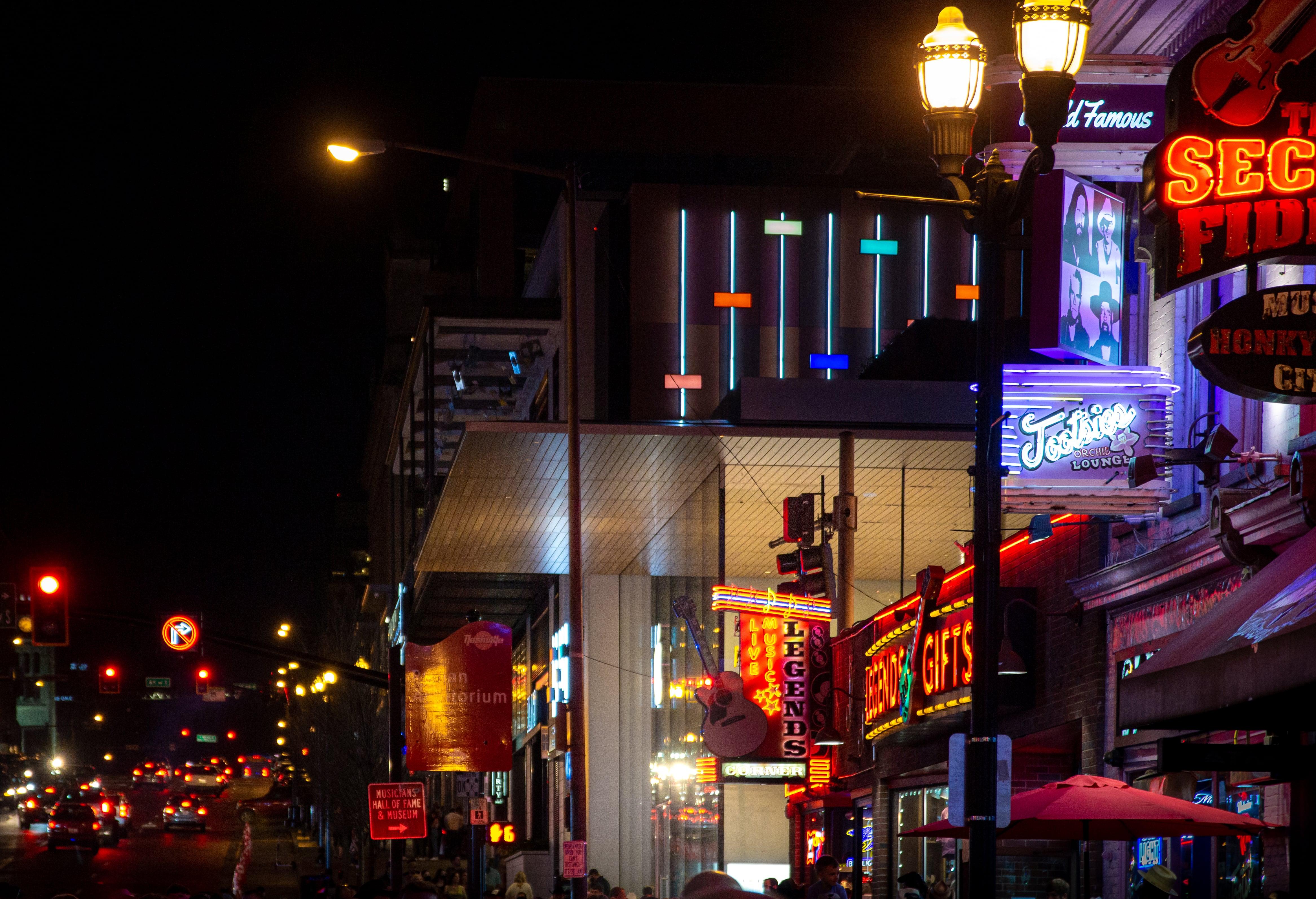 Neon light in Downtown Nashville