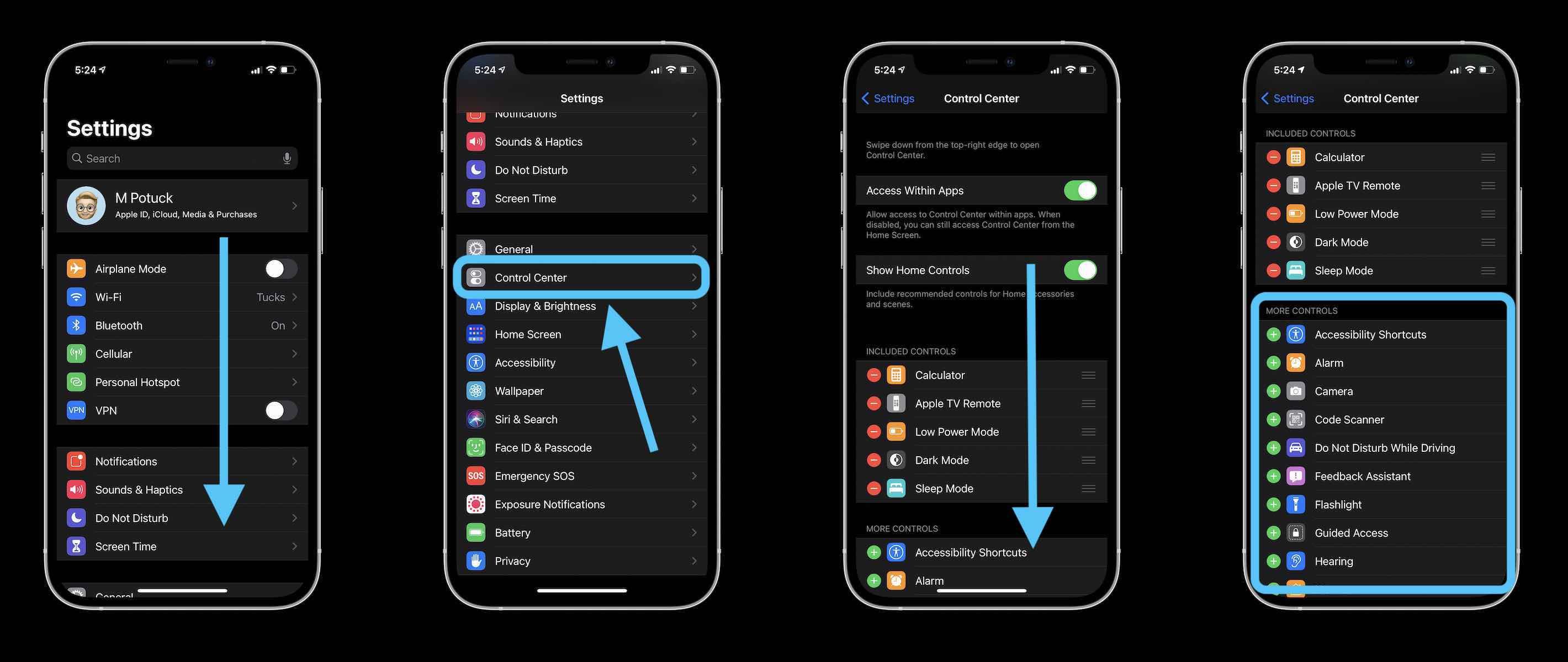 Как настроить Центр управления на iPhone и iPad в iOS