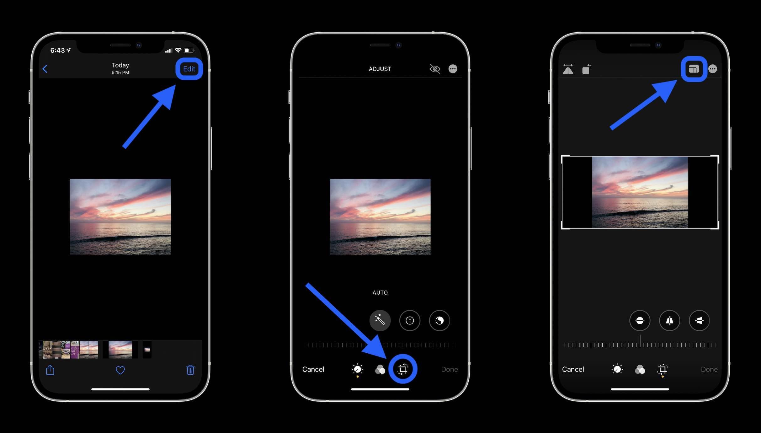 Как удалить черные полосы на фотографиях iPhone, пошаговое руководство 3
