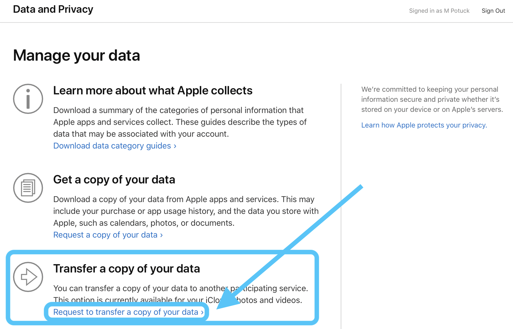 How to transfer iCloud Photos to Google Photos walkthrough 1