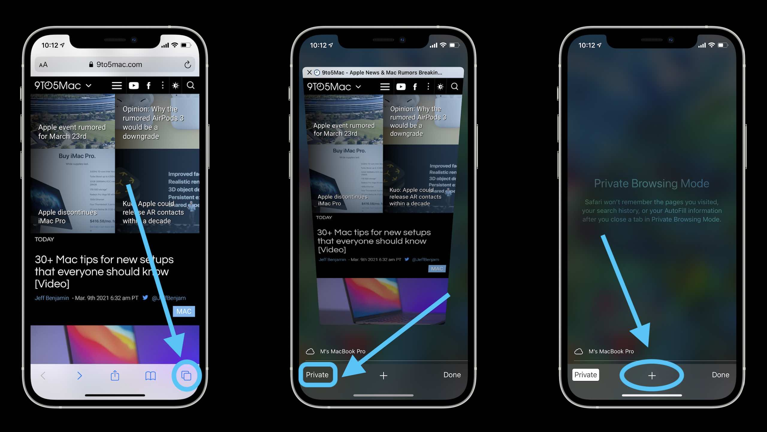 How to use Private Browsing on iPhone and iPad walkthrough 1