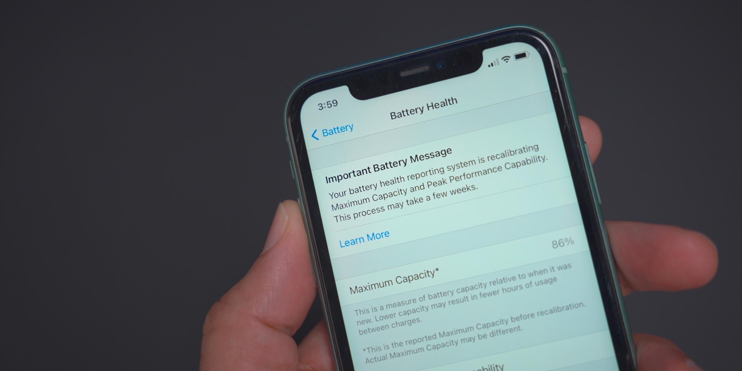 iphone 11 battery health settings ios 14 5 beta 6