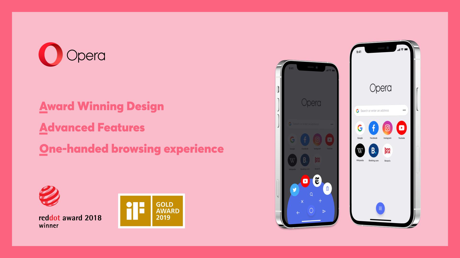 opera ios update one handed design