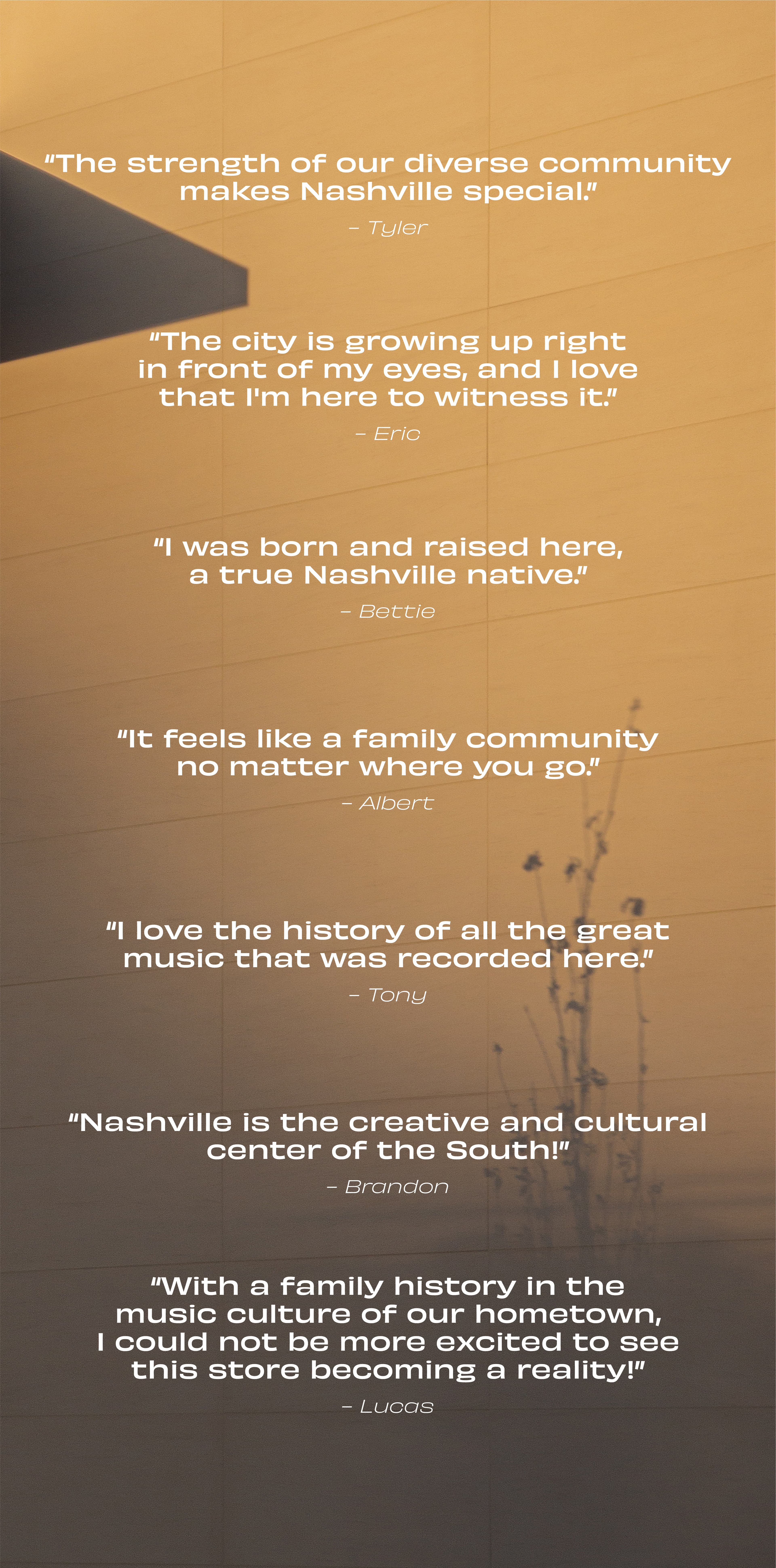 People share what makes Music City special