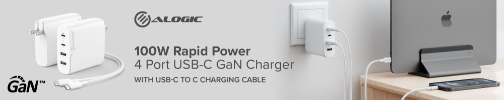 ALOGIC 9 to 5 GaN Chargers Banner