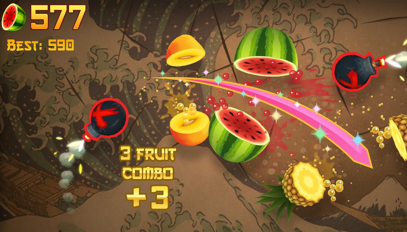 apple arcade launches more than 130 award winning games fruitninjaclassic 040221