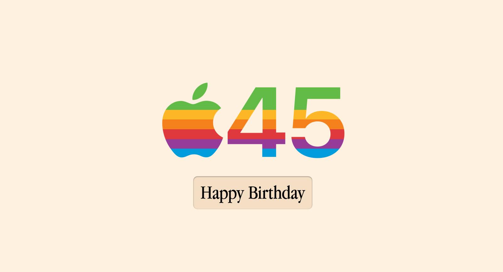 happy birthday apple