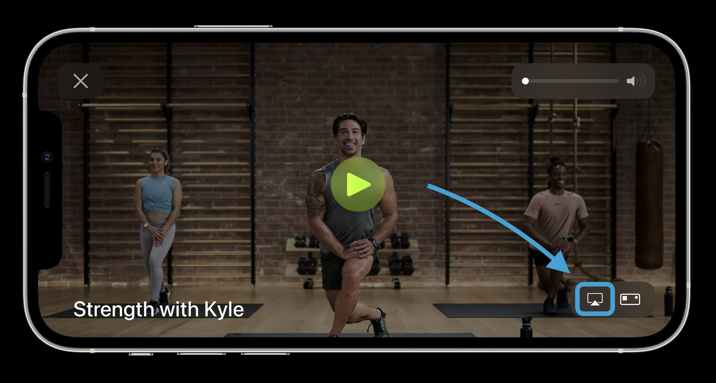 Как AirPlay Apple Fitness + классы к телевизору - пошаговое руководство 1