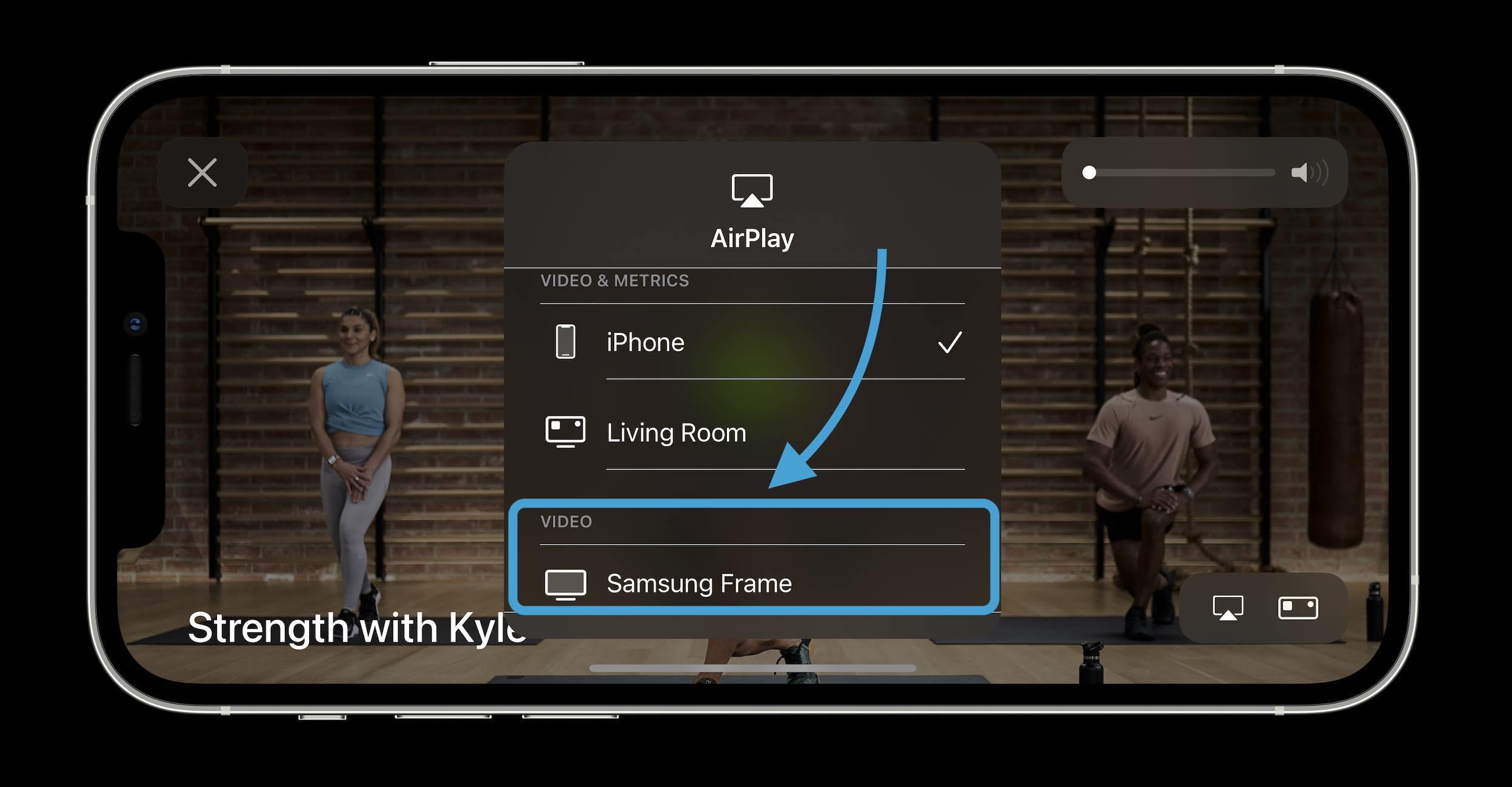 Comment diffuser des cours Apple Fitness + avec AirPlay sur votre téléviseur - Procédure pas à pas 2