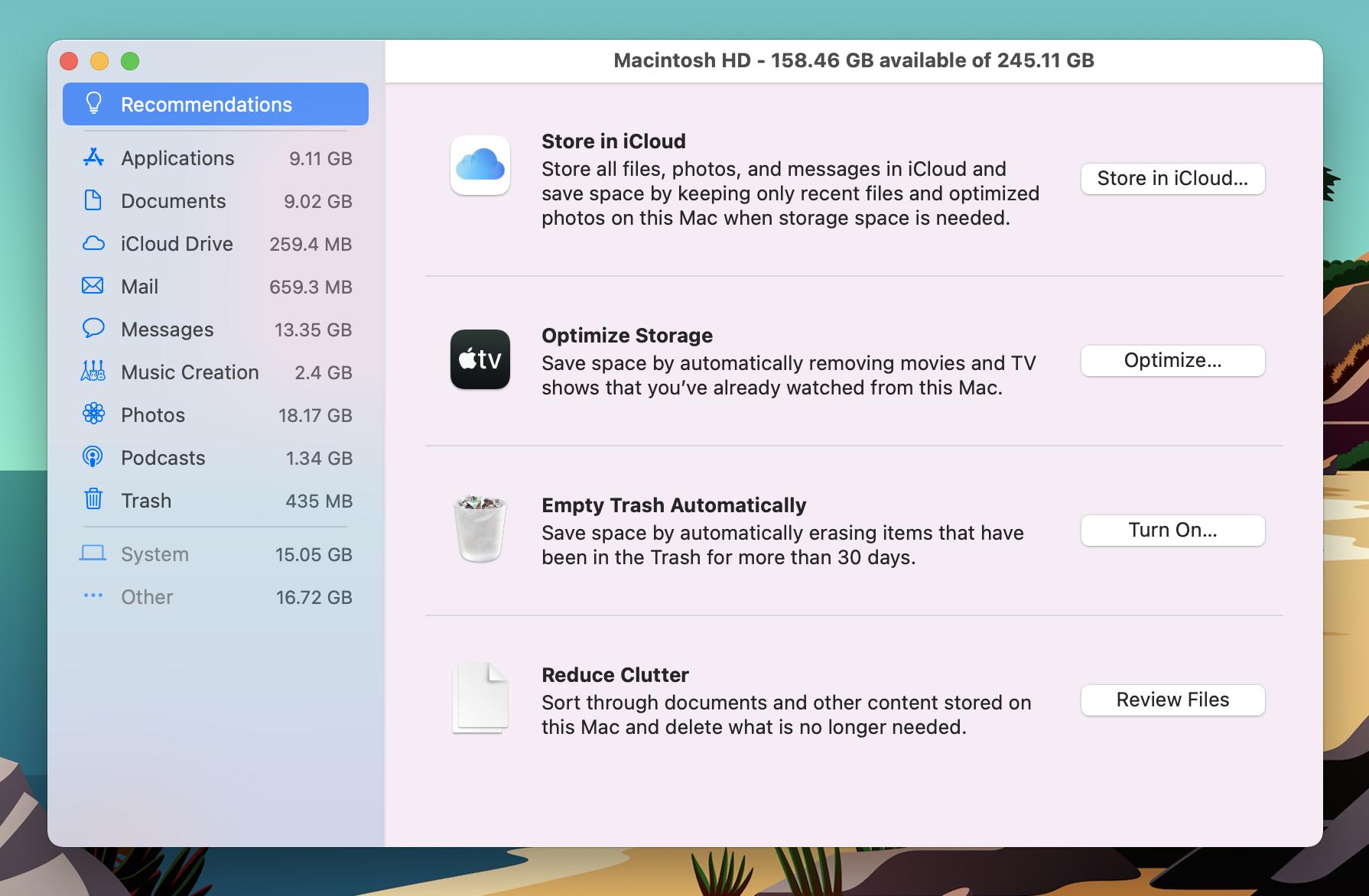 How to free up Mac storage walkthrough 2
