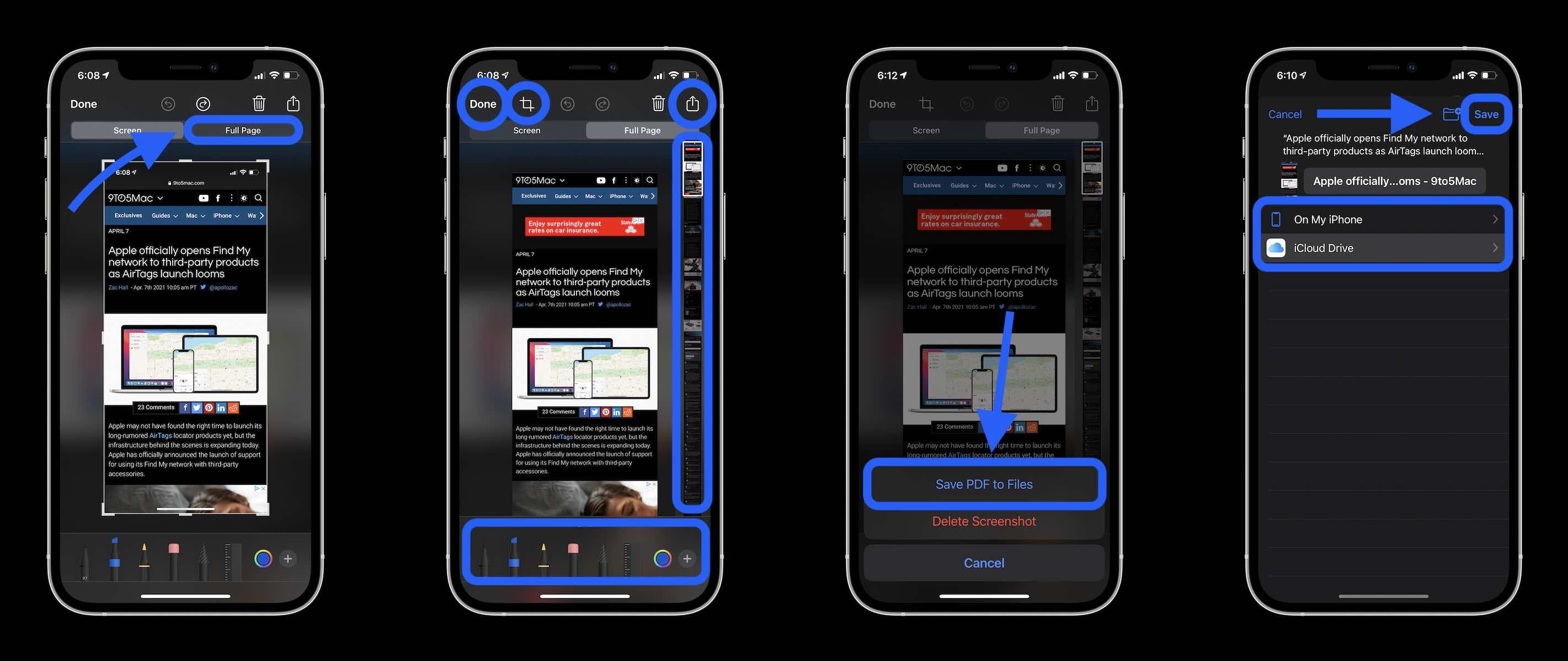 How to take scrolling screenshot on iPhone walkthrough
