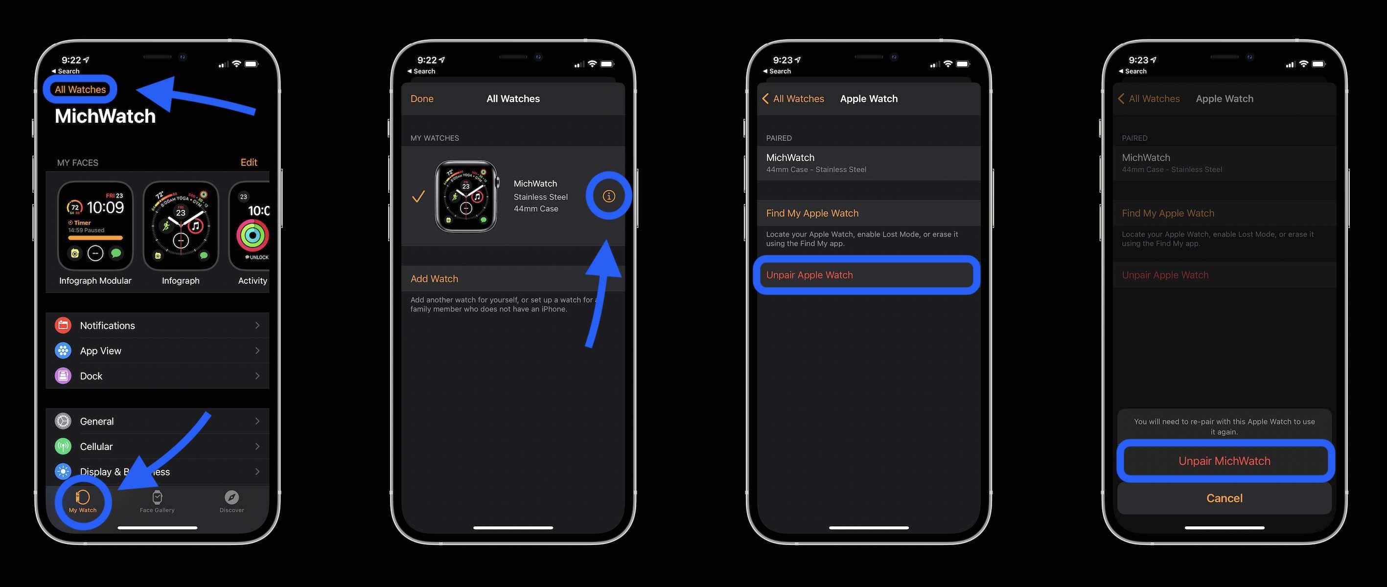 Как разорвать пару с Apple Watch - пошаговое руководство