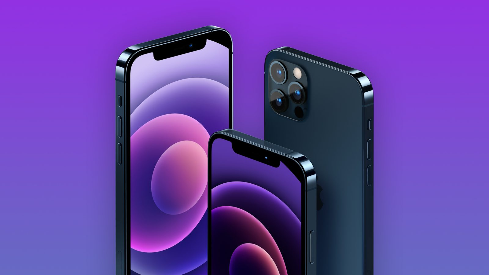 Download The New Purple Iphone 12 Wallpaper For Your Devices Right Here 9to5mac