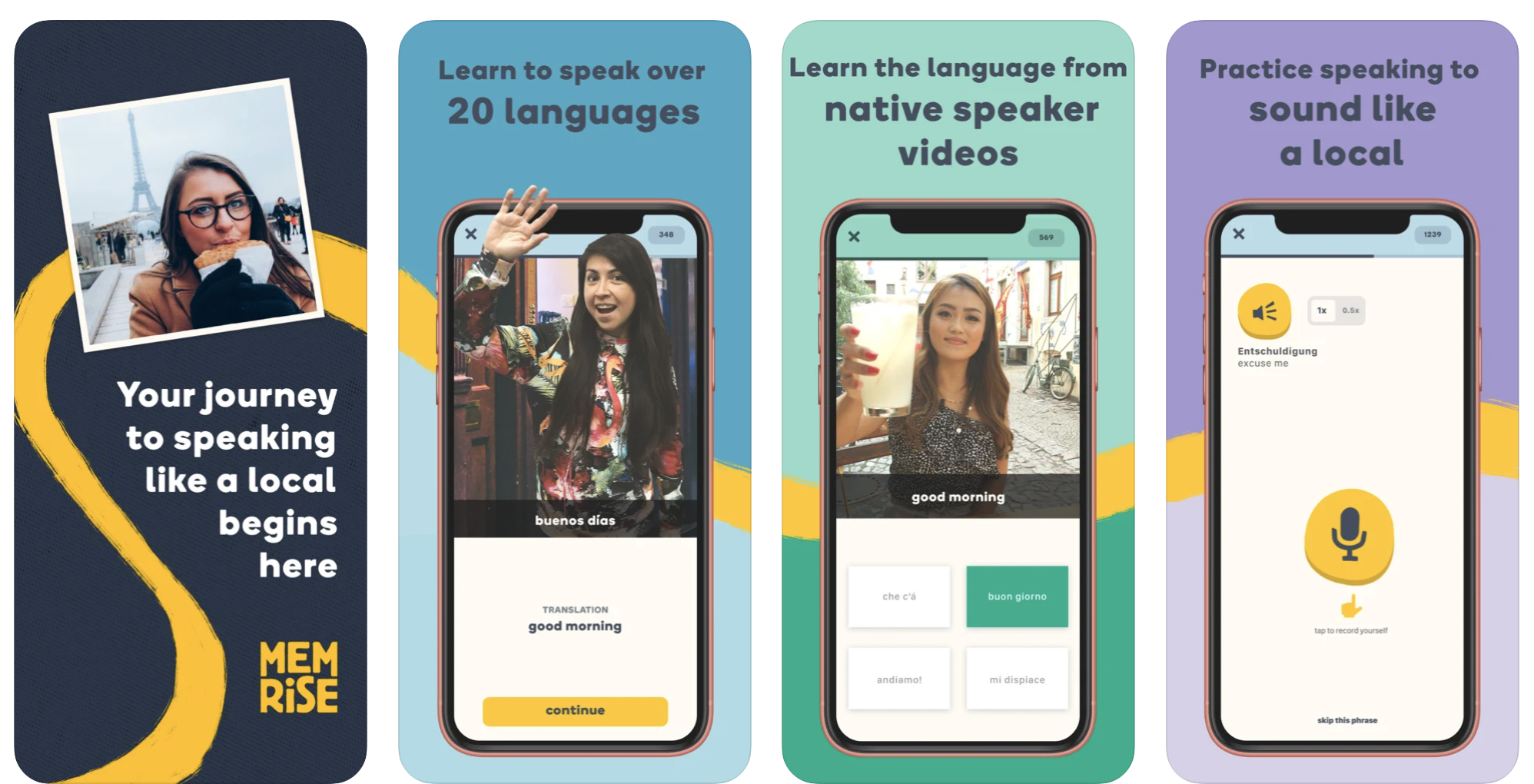 Meilleures applications d'apprentissage des langues iPhone - Memrise