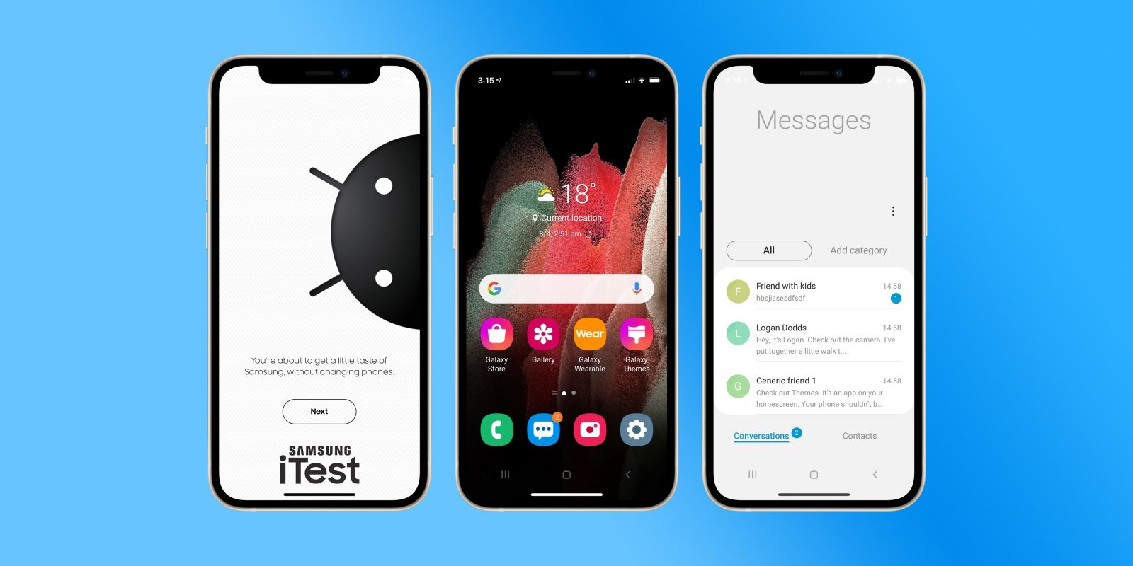 Samsung launches 'iTest,' a new web app for turning your iPhone into a Galaxy device