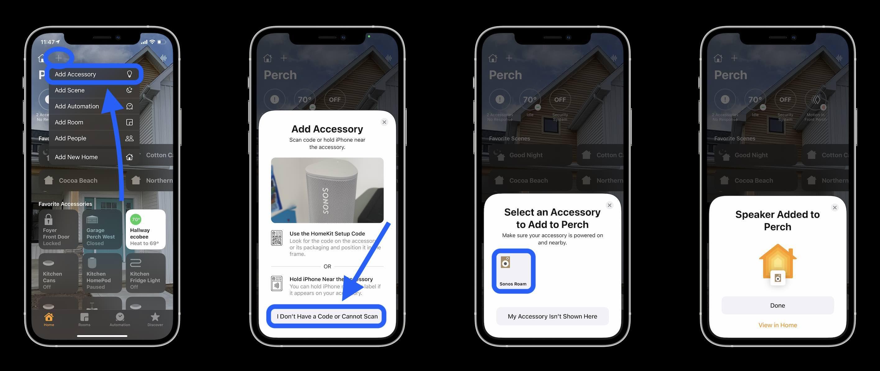 Aplicación de inicio y configuración de Siri