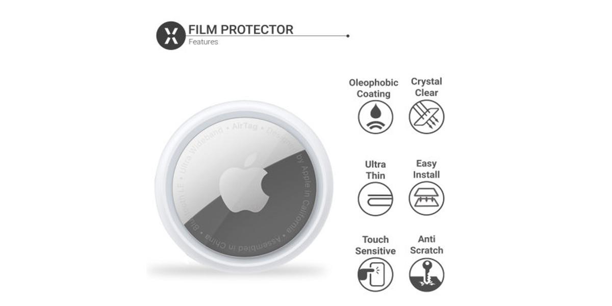 Protecteur d'écran AirTag peau anti-rayures claire