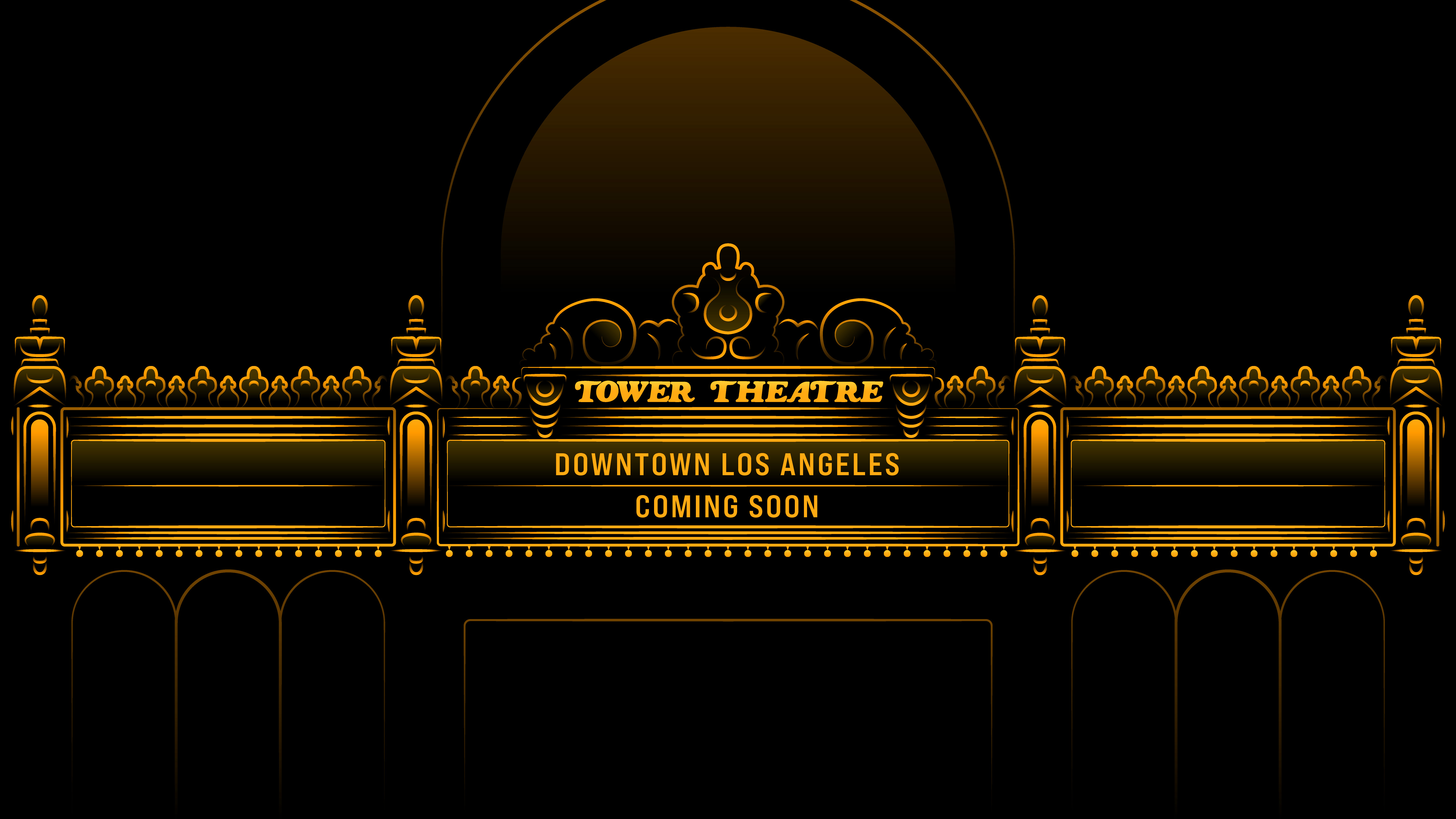 Apple Tower Theatre Marquee with text