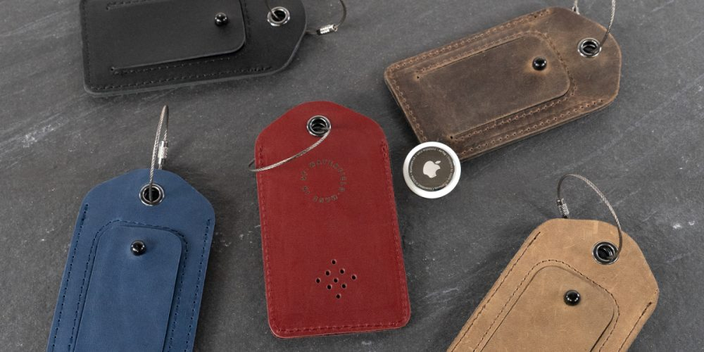 WaterField AirTag keychain and luggage tag