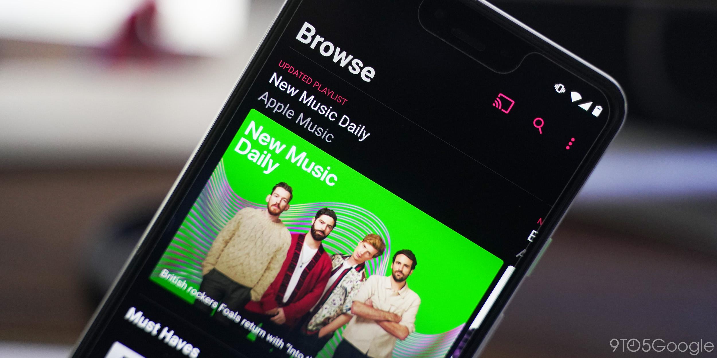 apple music chromecast android dark mode