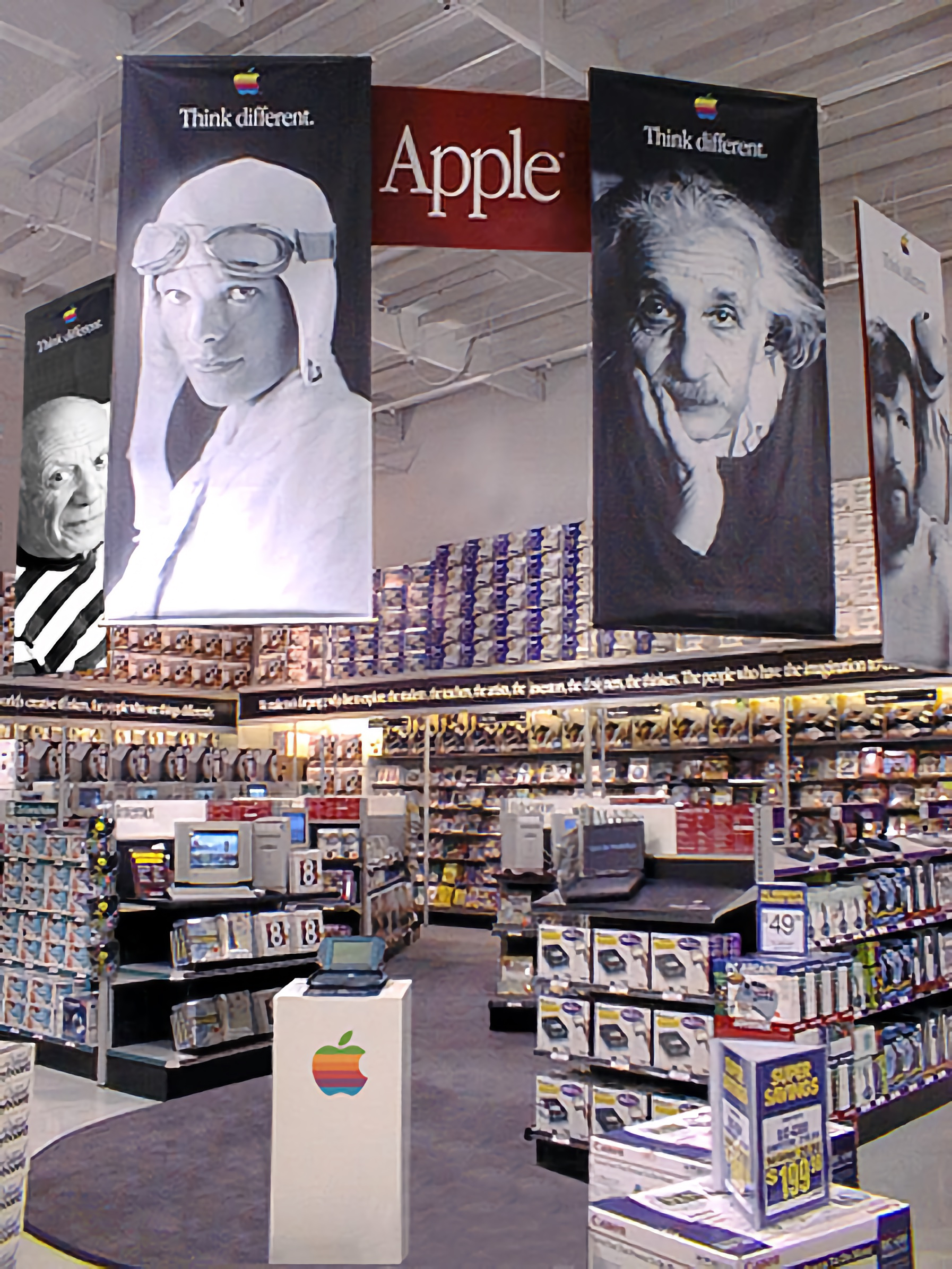The Apple store within a store concept at CompUSA in Pleasanton, California.
