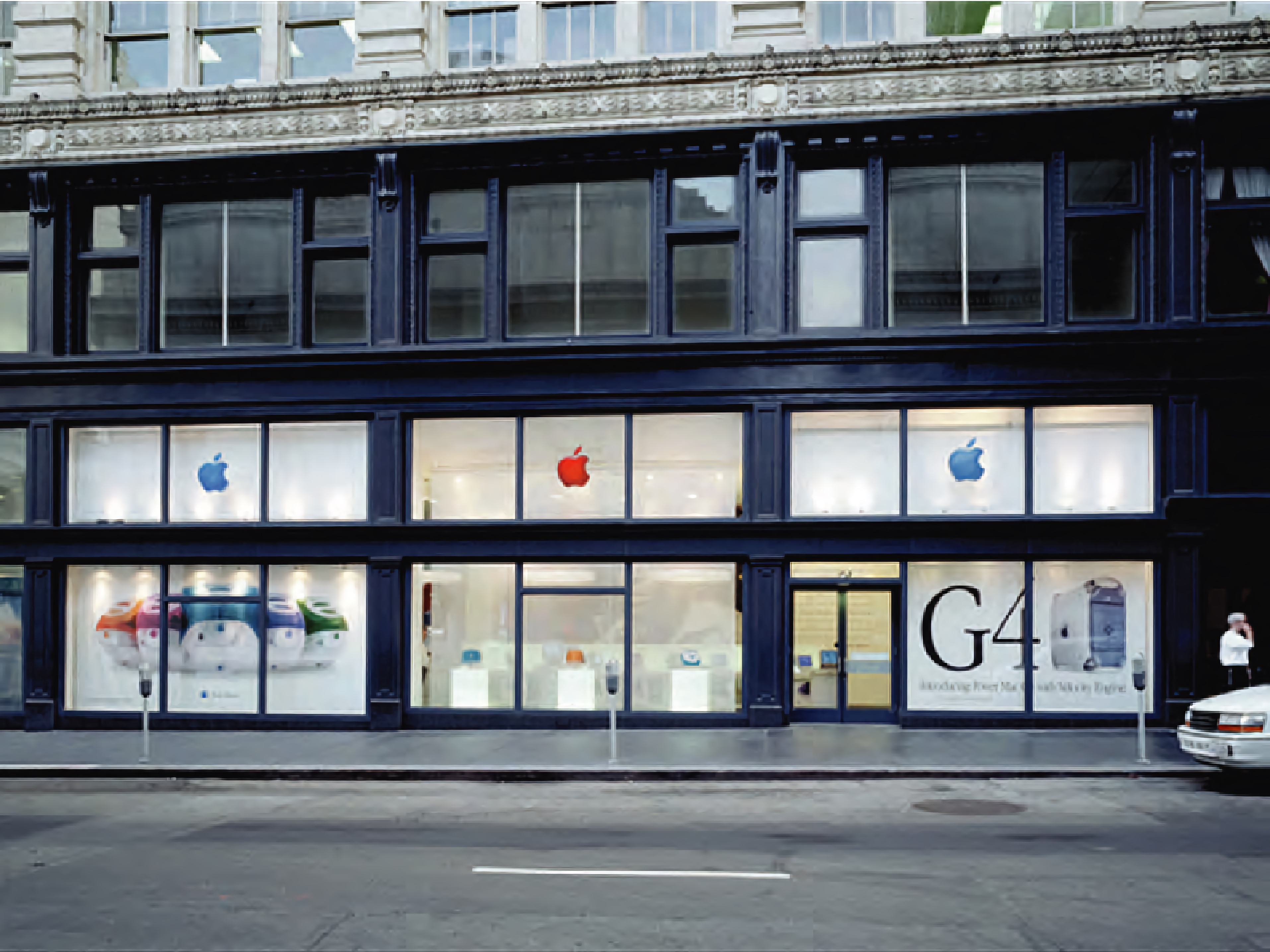The Apple store-in-store concept at CompUSA San Francisco, 1999.