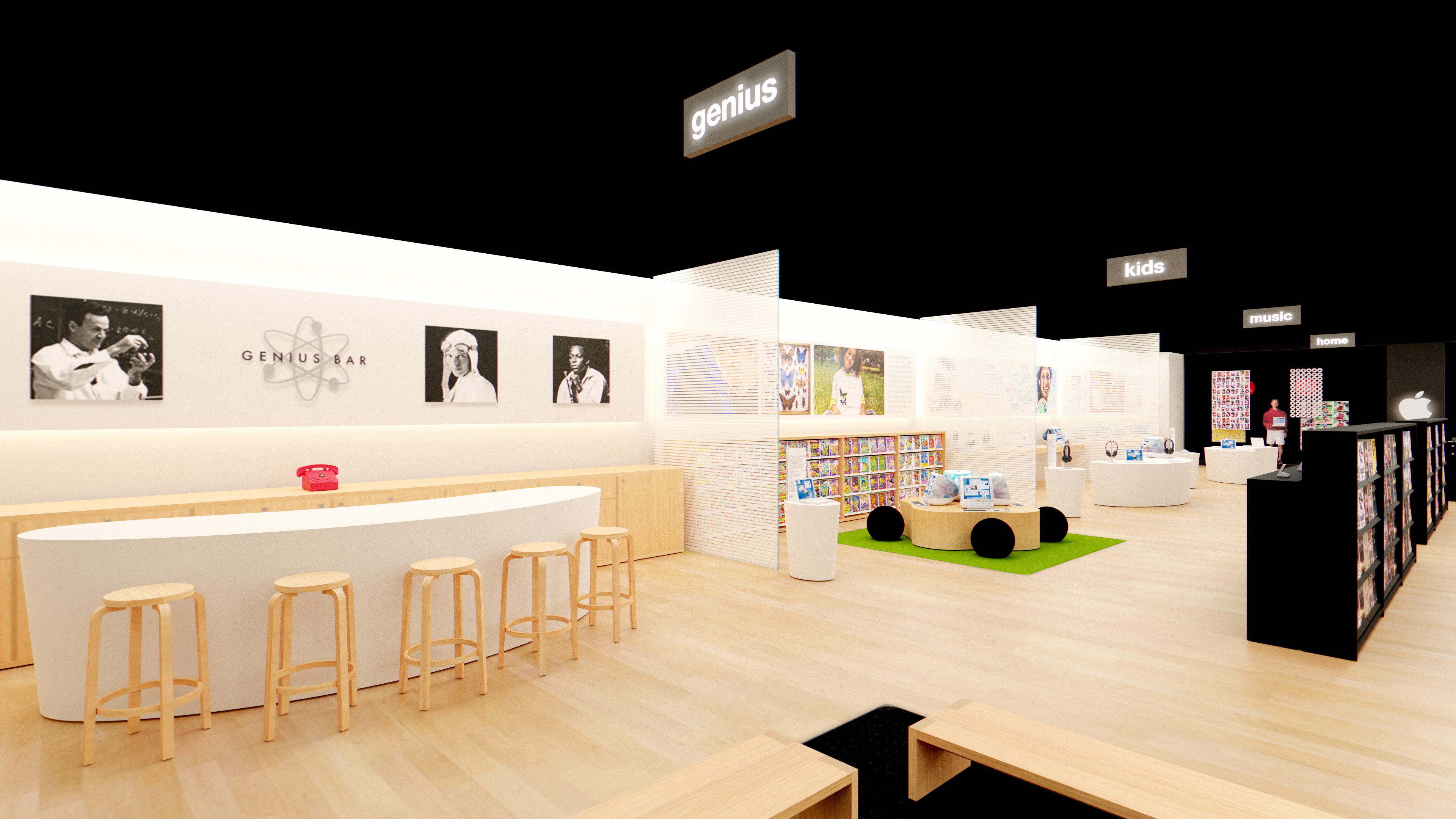 Inside an augmented reality model of the world's first Apple Store.