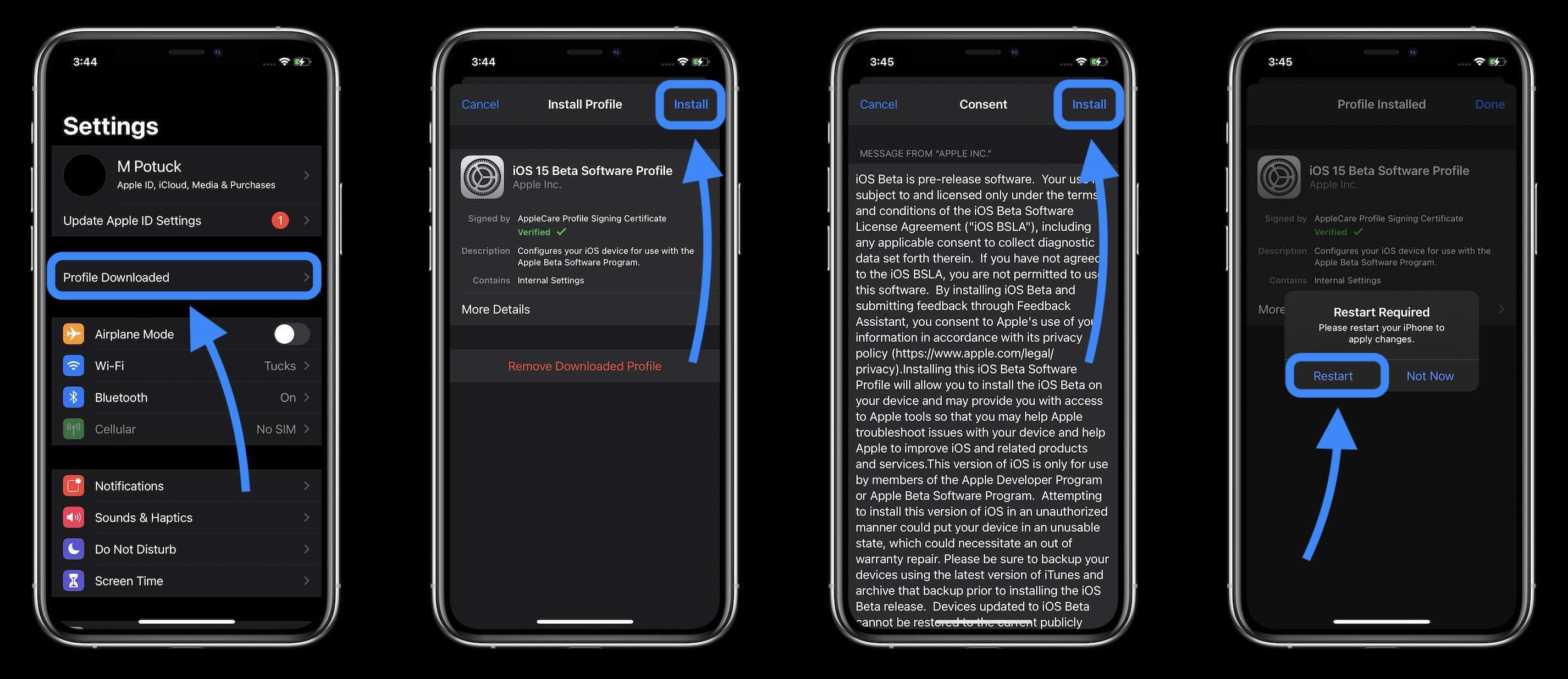 How to install iOS 15 beta - walkthrough 3