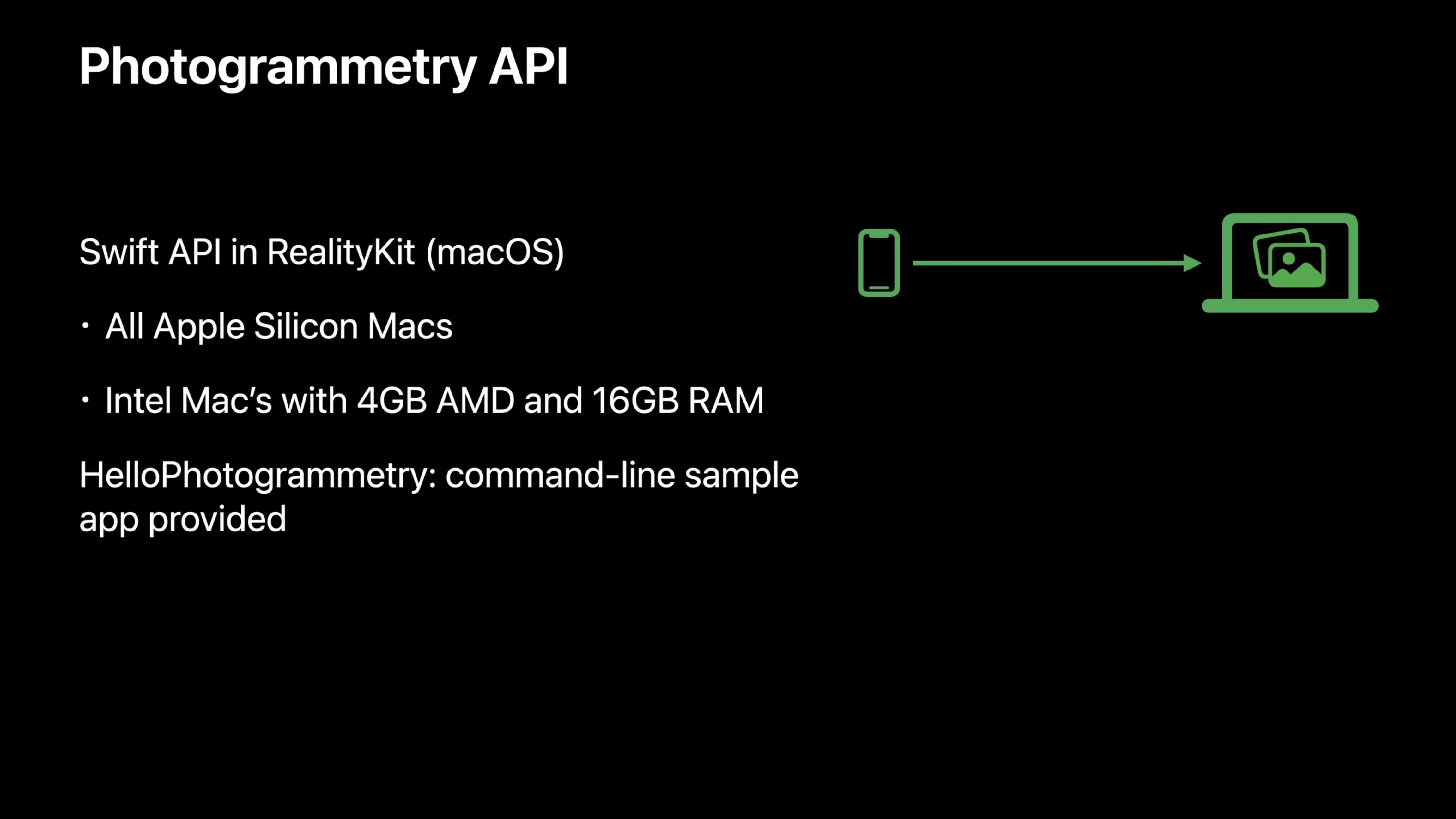 Apple's Object Capture API.