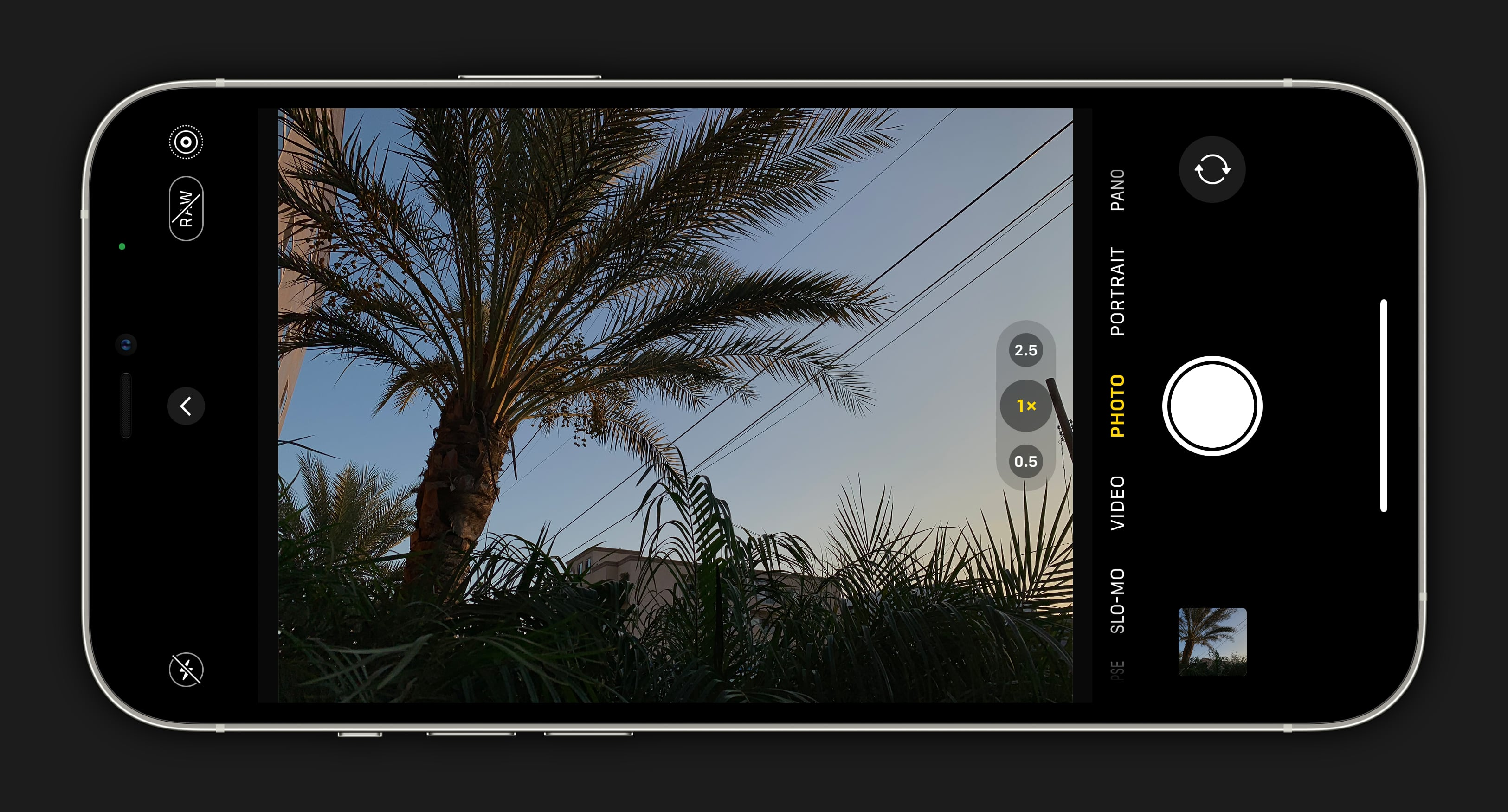 Snap your photos. Tap and hold to lock focus if your scene is in a difficult position.