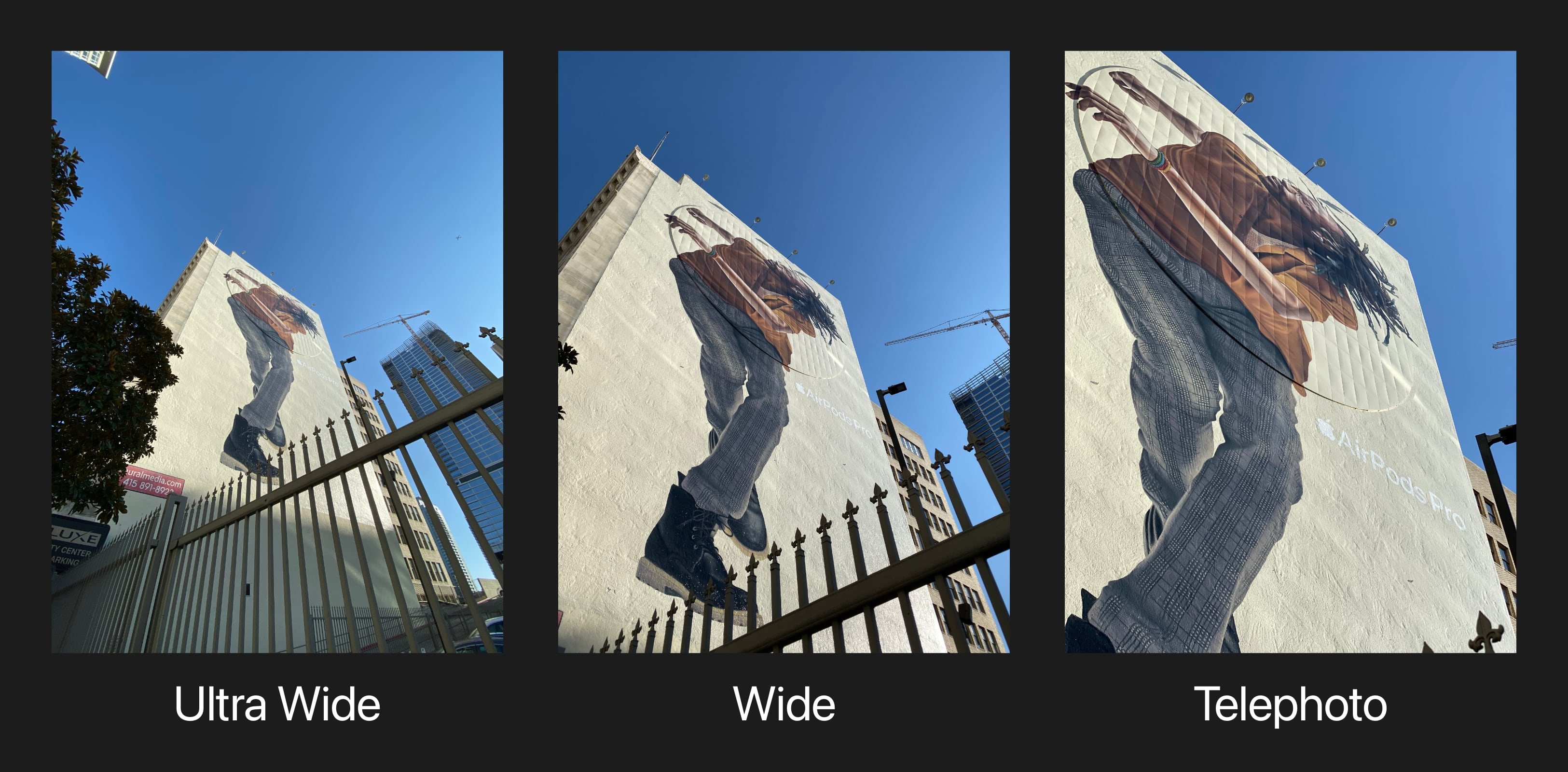 Take a photo walk. As you move, toggle between the Wide and Ultra Wide lenses to discover how different perspectives tell different stories.