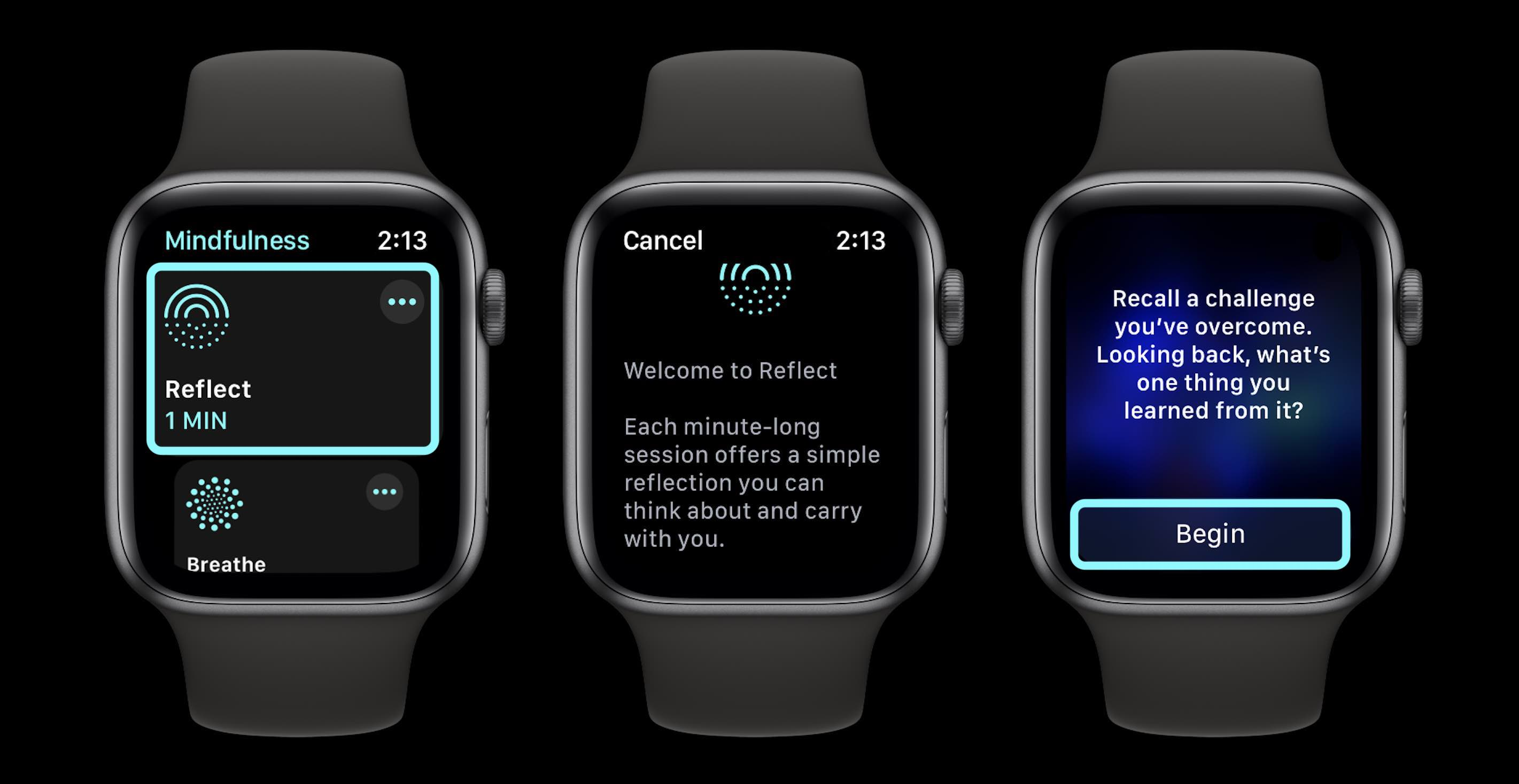 How to use Mindfulness app and Reflect watchOS 8 - walkthrough 1