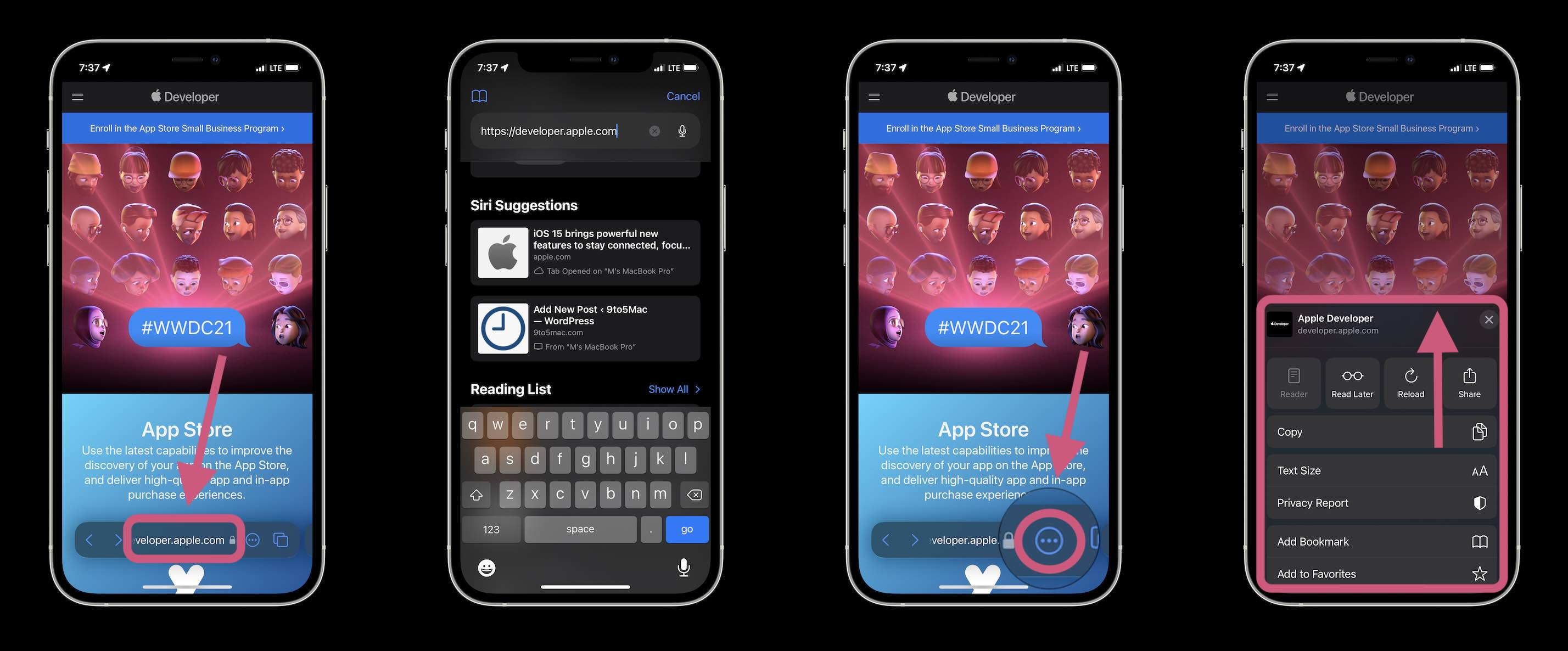 How Safari in iOS 15 works - menu bar, url bar, more