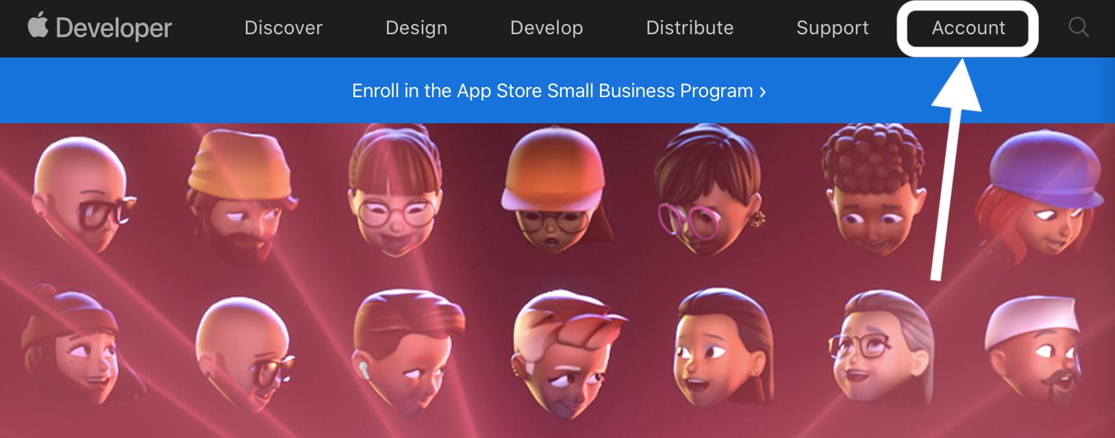 How to install macOS Monterey beta walkthrough 1 - click Account on Apple's Developer website