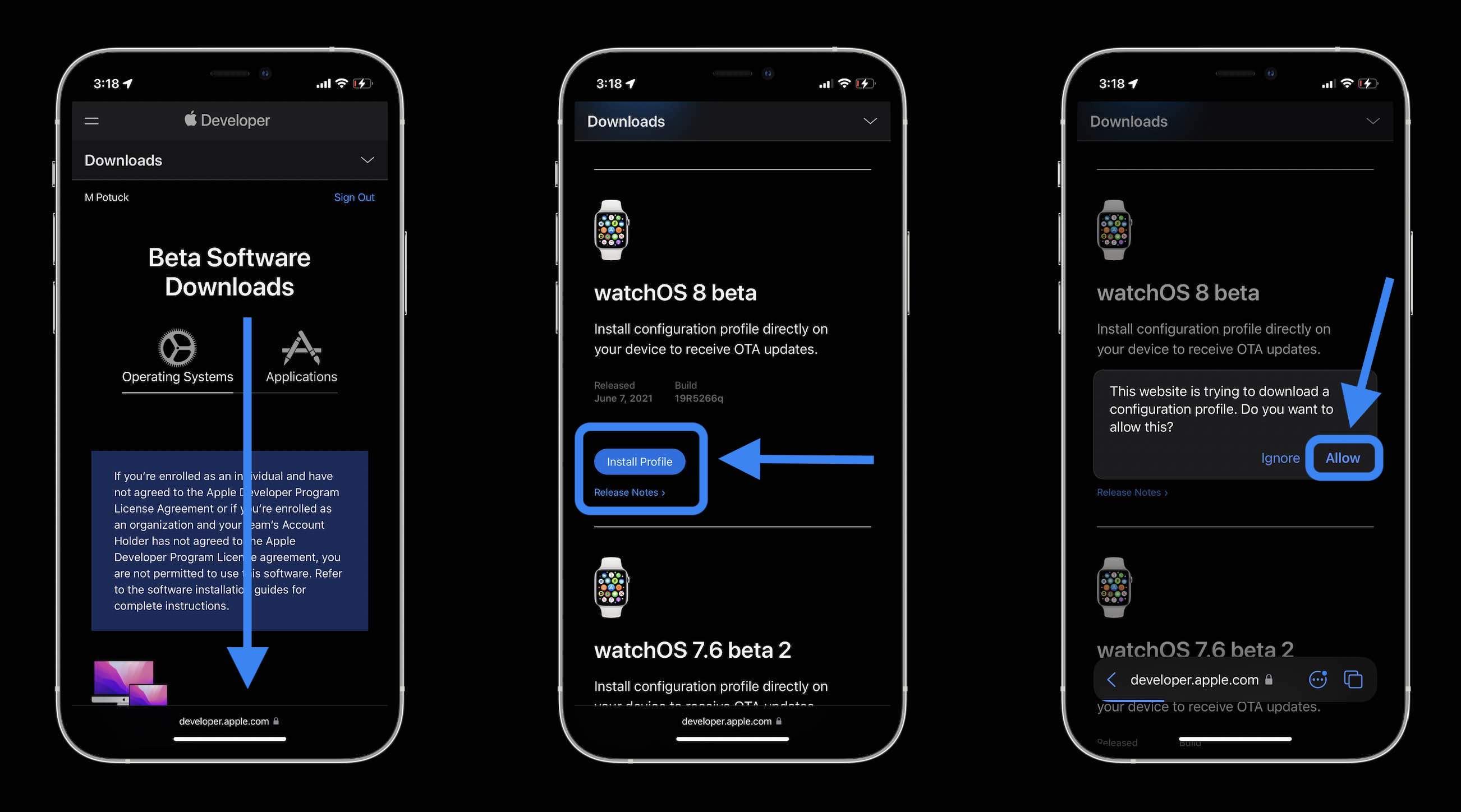 How to install watchOS 8 beta - walkthrough 2
