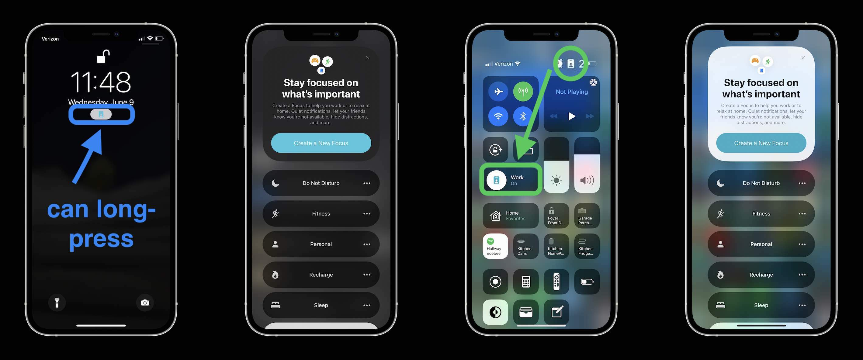 How to use iPhone Focus in iOS 15 - where to see what's enabled