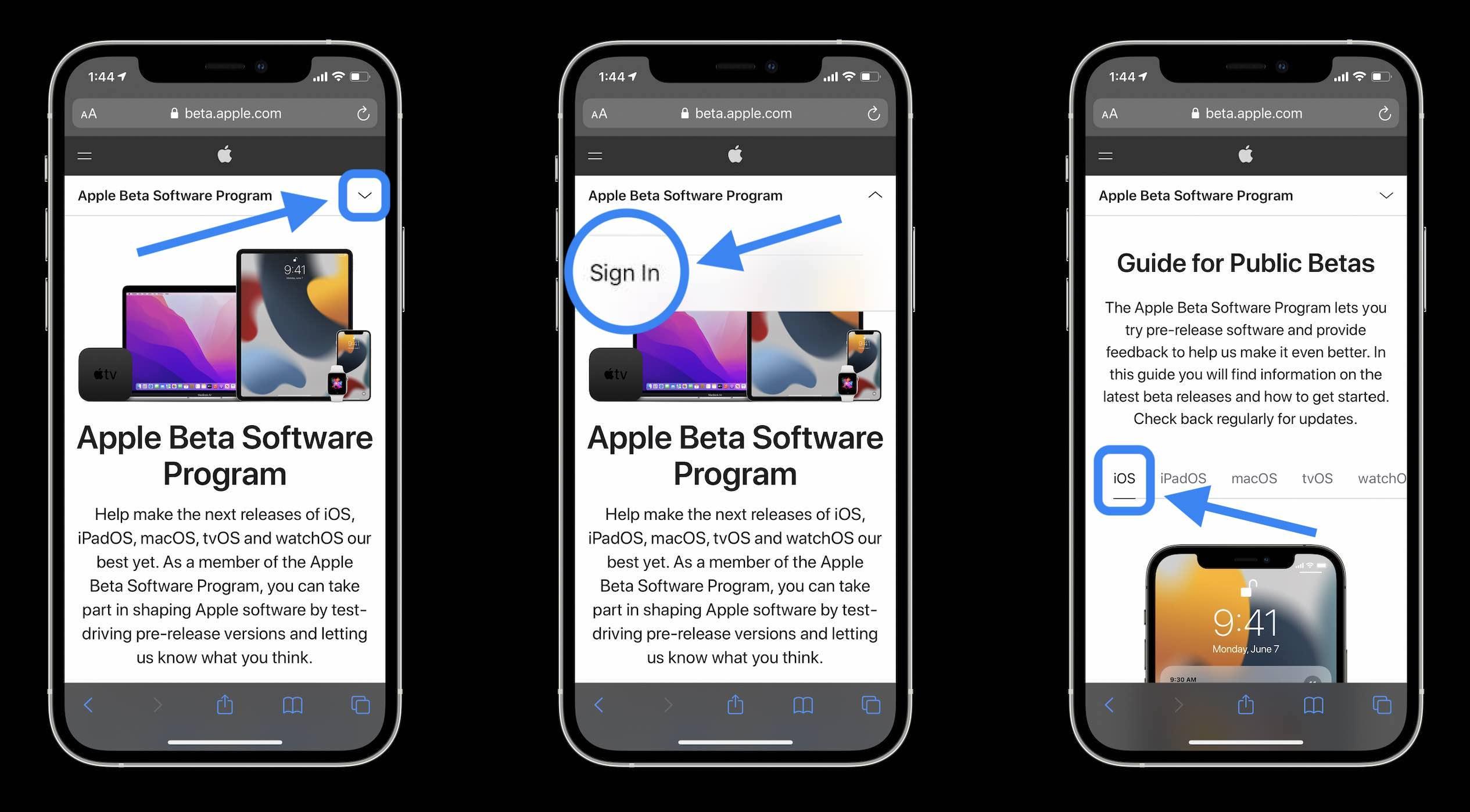 Install iOS 14 public beta walkthrough 1