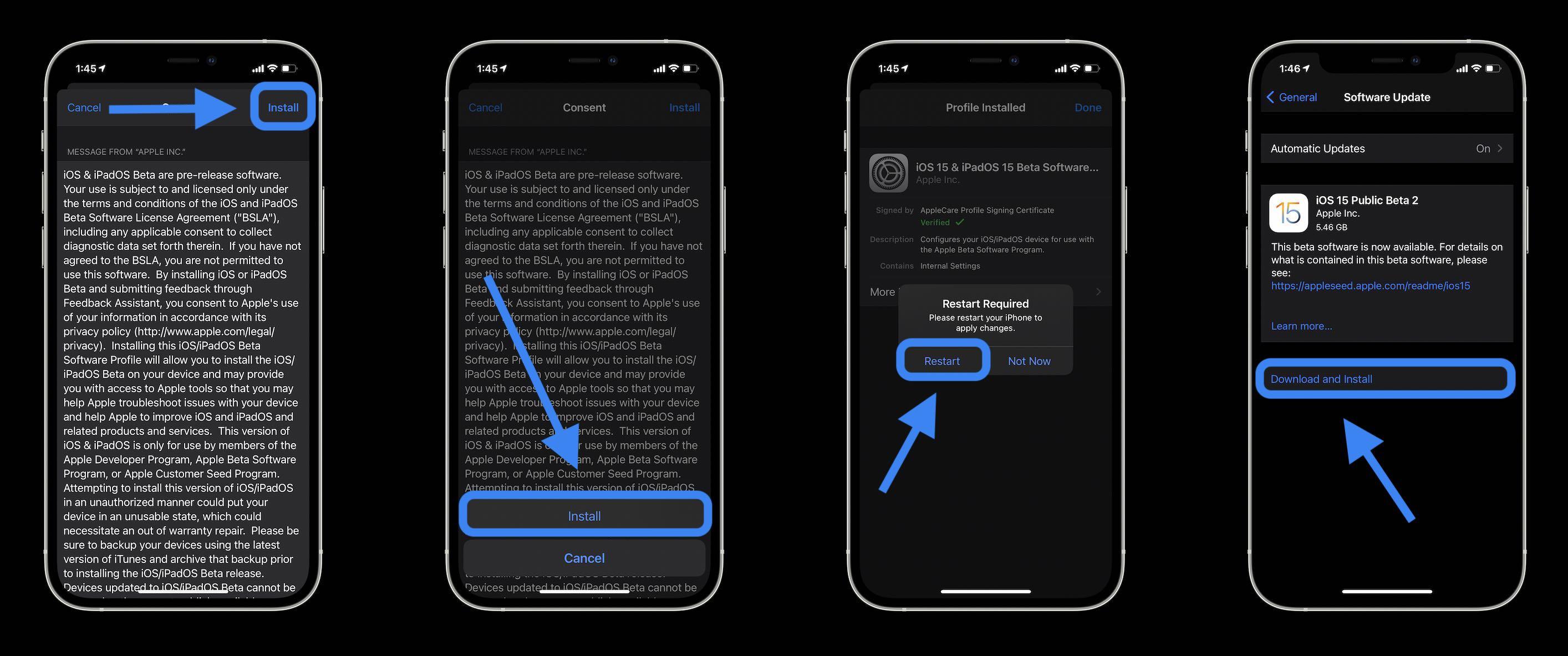 Install iOS 14 public beta walkthrough 4