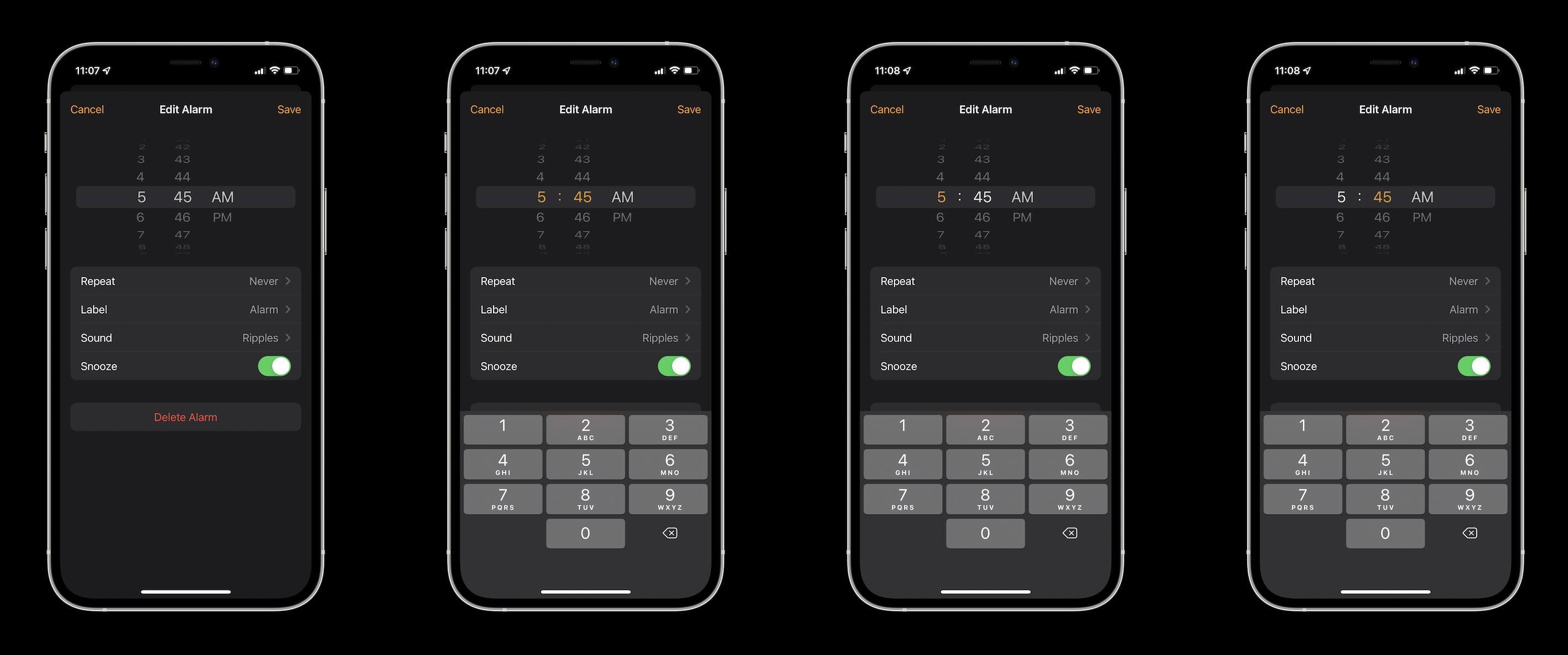iOS 14 dial picker - iOS 13 and 14 hybrid design