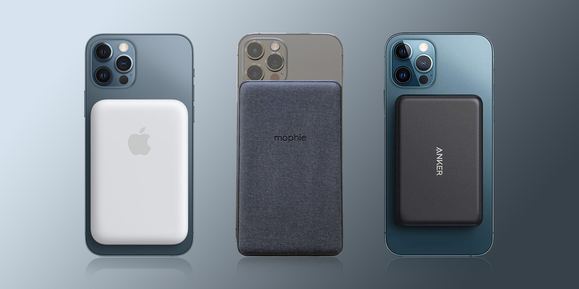Apple MagSafe Battery Pack vs Mophie and Anker