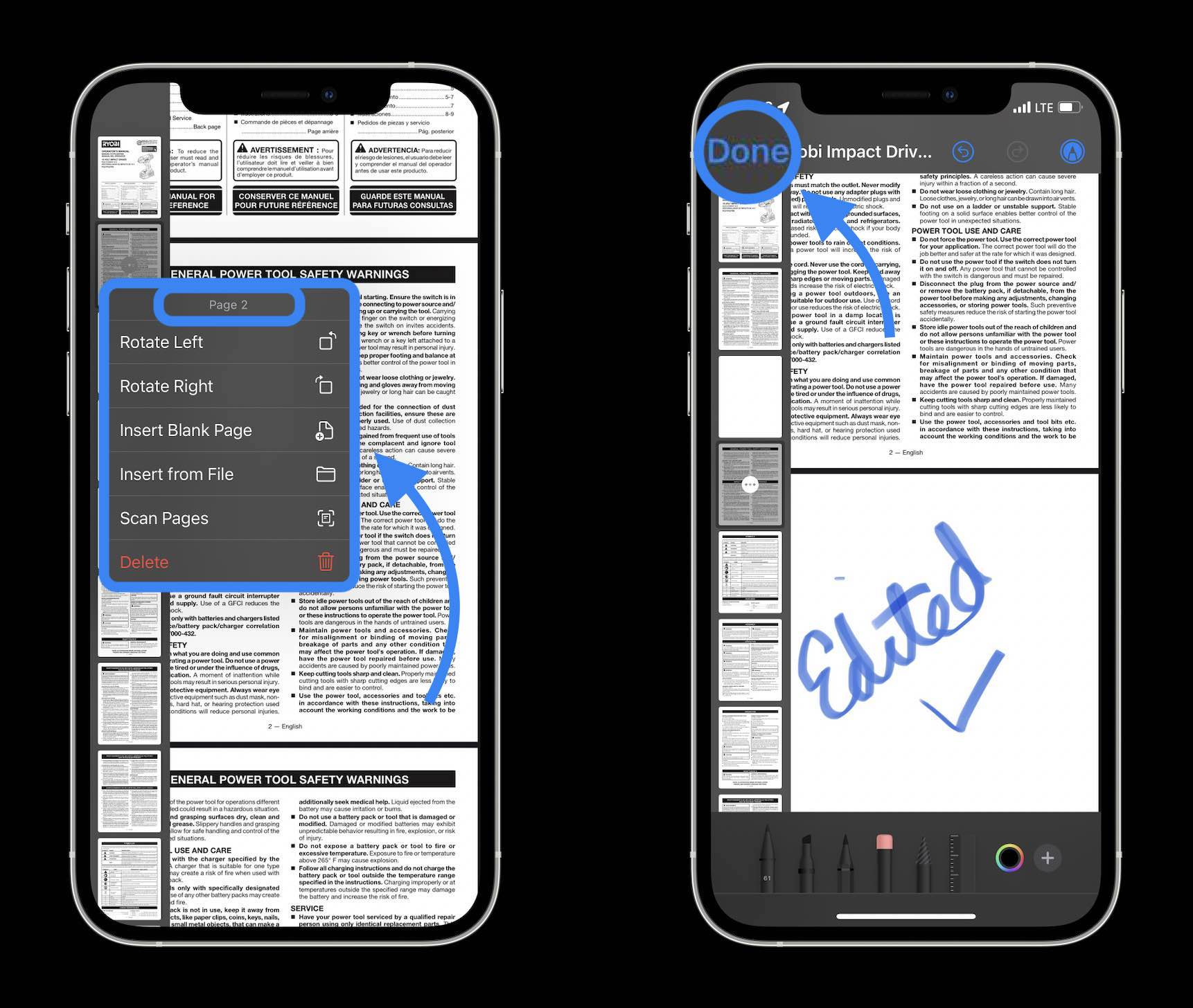 How to edit PDFs on iPhone and iPad in iOS 15 - walkthrough 2