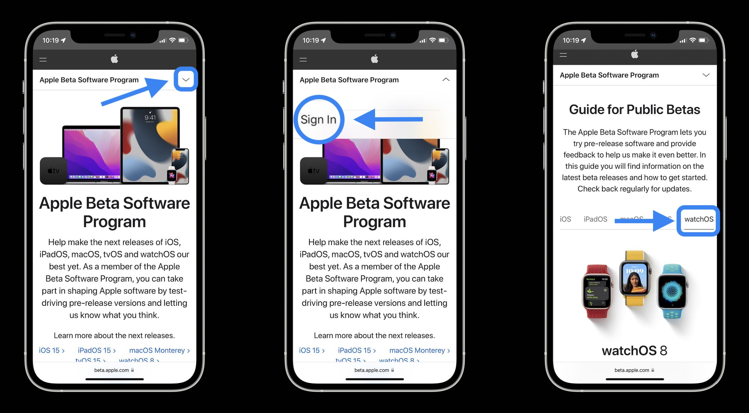 How to install watchOS 8 beta walkthrough 1 - public beta