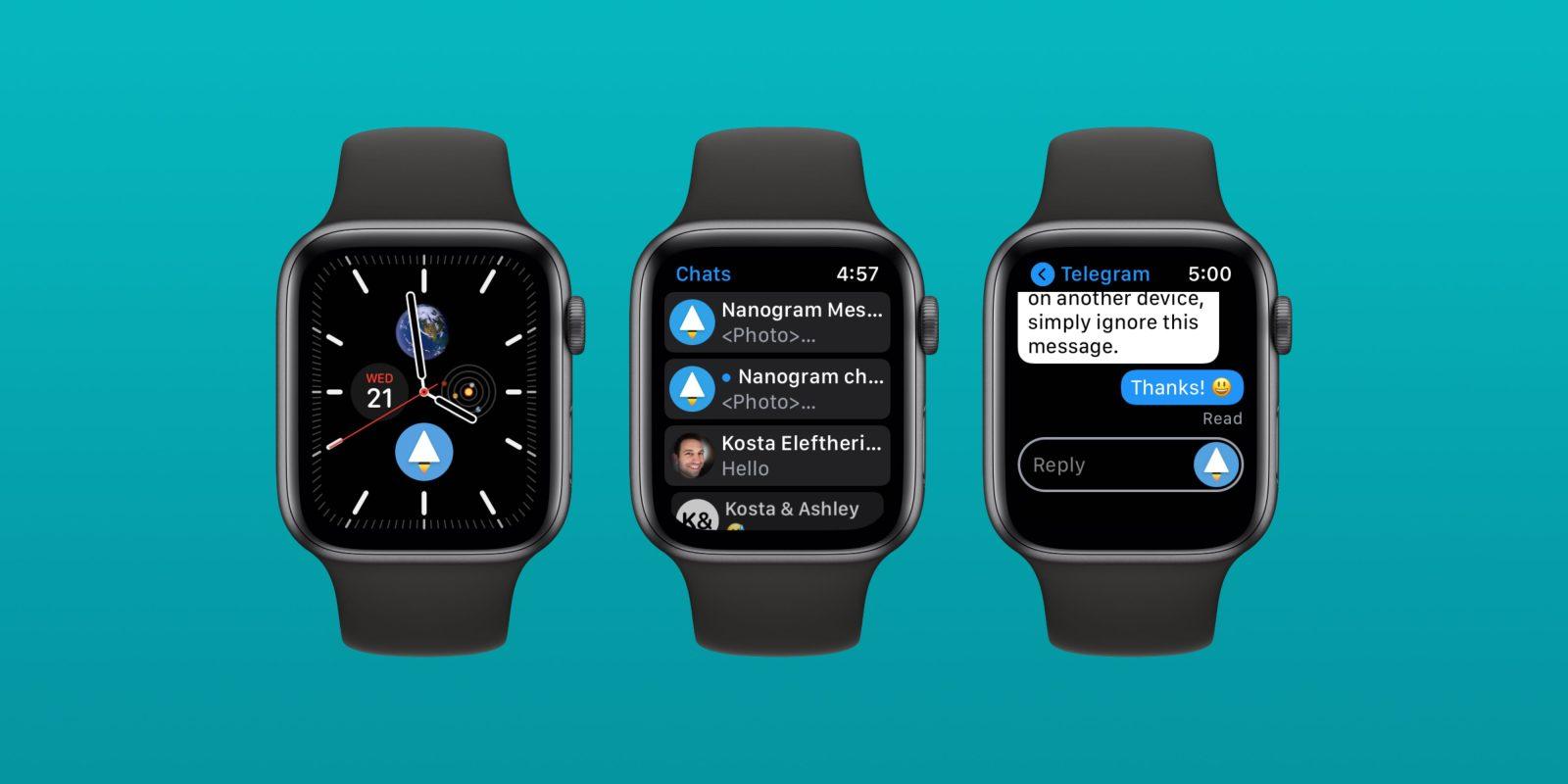 'Nanogram Messenger' brings the full Telegram experience to your Apple Watch