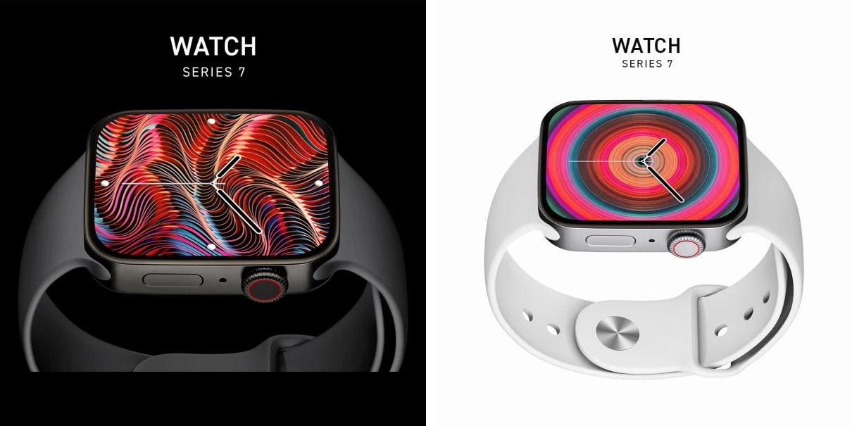 2021 Apple Watch Series 7 renders