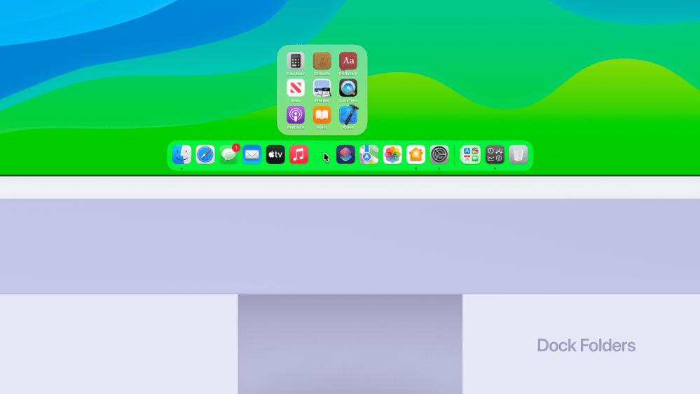 dock folders on macOS