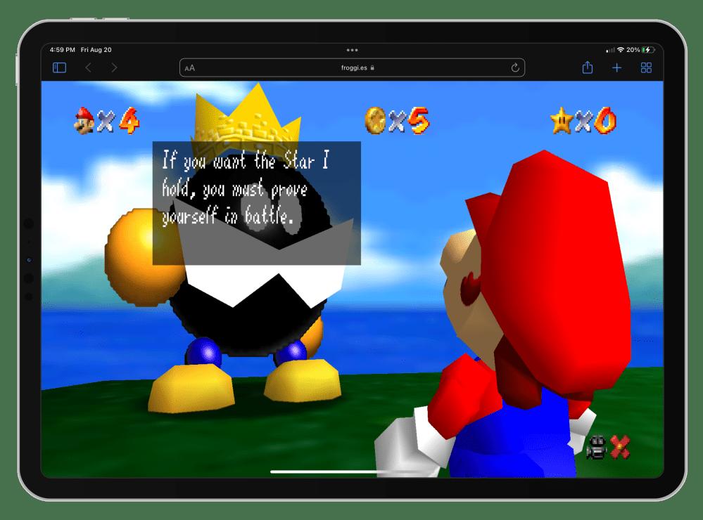 Mario 64 iPad