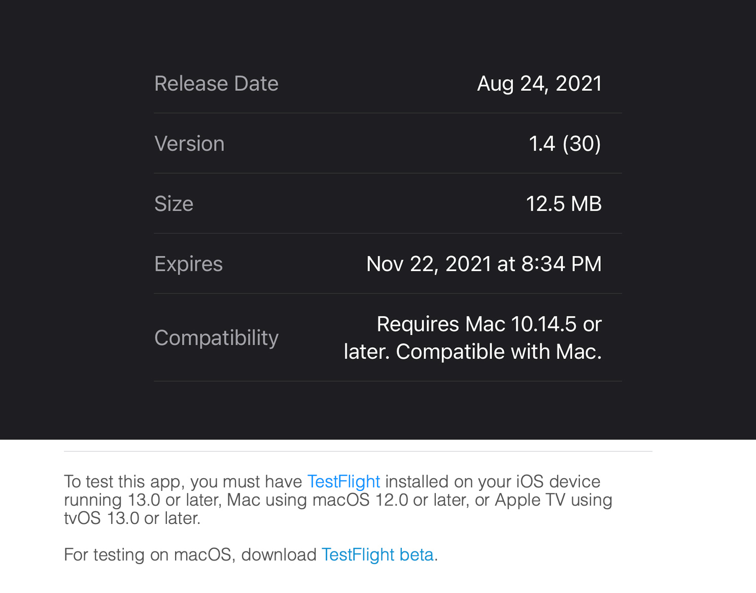 testflight mac Developers can now submit beta apps to TestFlight for macOS [U: Now available]