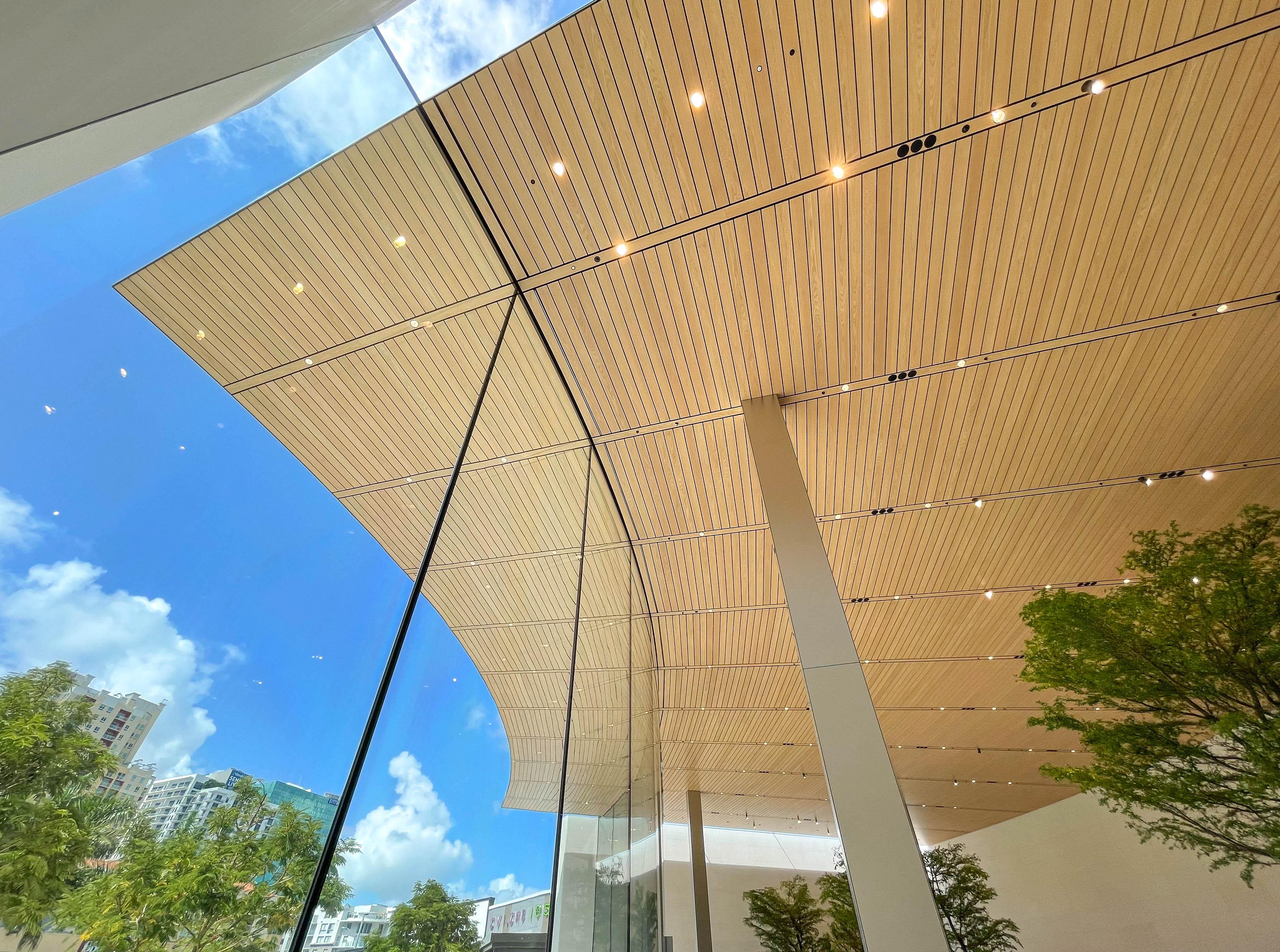 The skylight at Apple Dadeland.