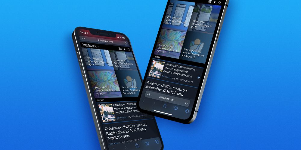 How to change iOS 15 Safari address/search bar on iPhone