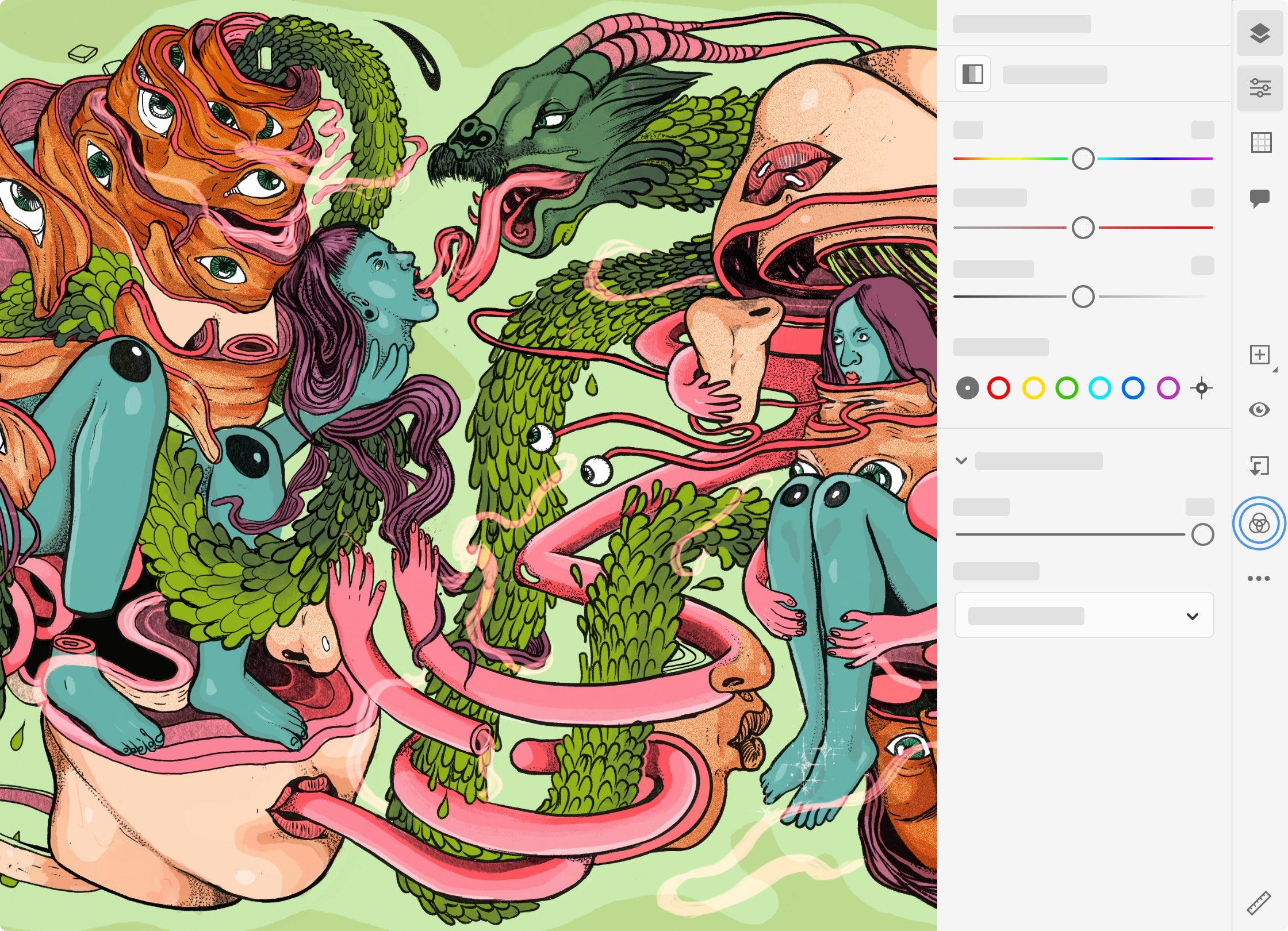 Adobe Fresco on iPad